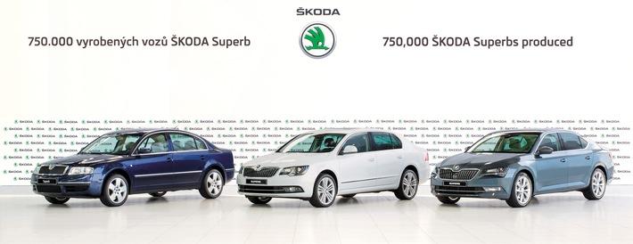 SKODA produziert 750.000sten SKODA Superb