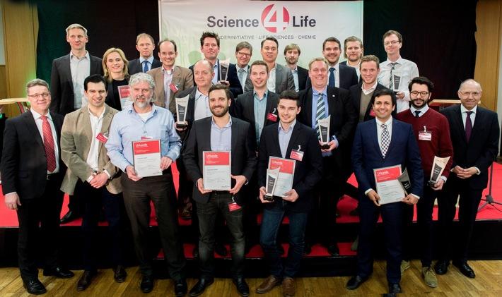 Hohe Qualität und technologischer Vorsprung: High-Tech Gründer zeigen sich in Bestform / Gewinner der Konzeptphase des Science4Life Venture Cup 2016 prämiert