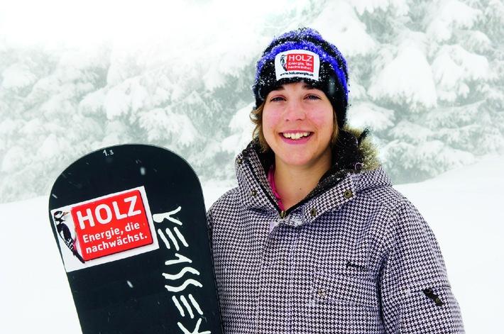 Snowboard-Talent Simona Meiler auf dem Podest