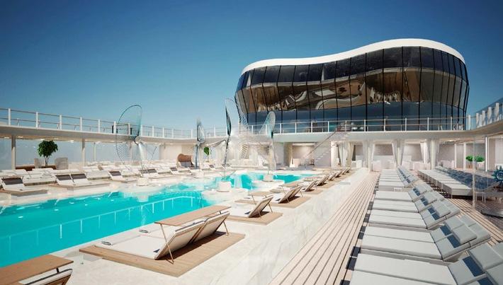 Baustart einer neuen Schiffsgeneration: Erster Stahlschnitt für die Schiffe der «Vista»-Klasse von MSC Cruises bei STX France in Saint-Nazaire