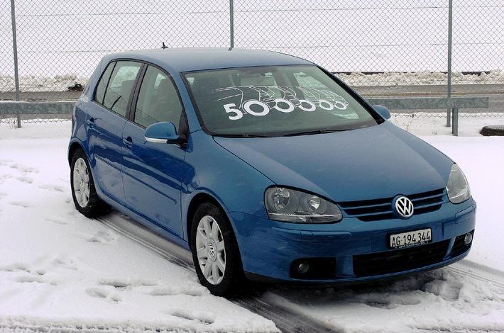 Leader suisse : la Golf VW - 500'000 véhicules vendus
