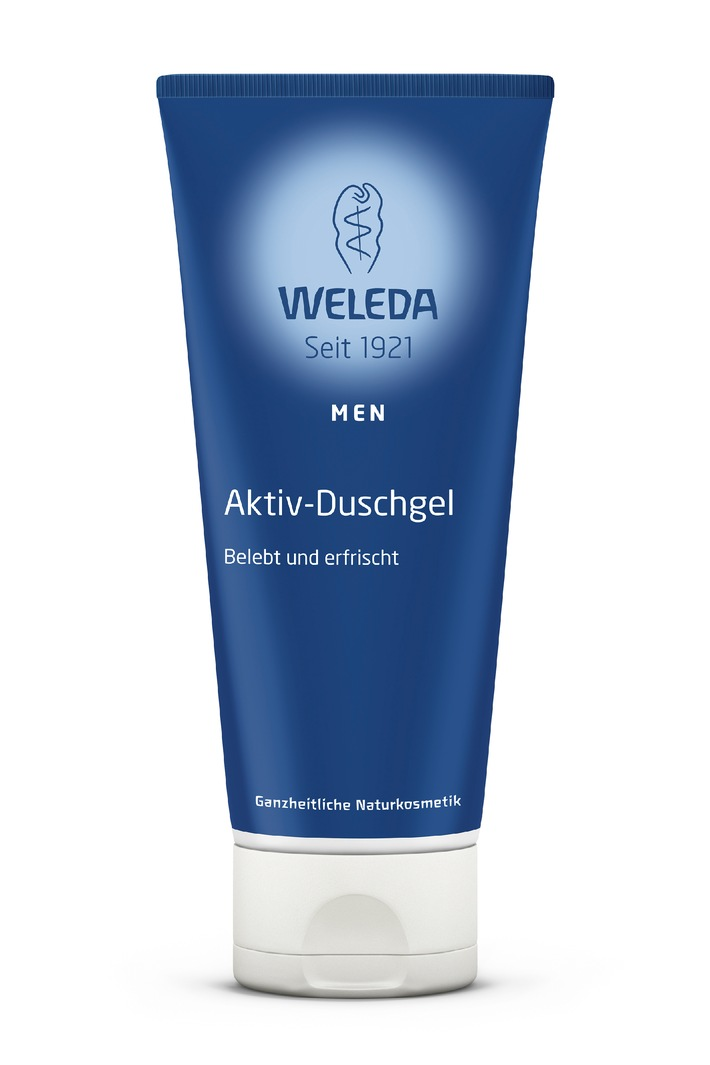 Eine ganzheitliche Innovation für moderne Männer: Das neue Weleda Men Aktiv-Duschgel