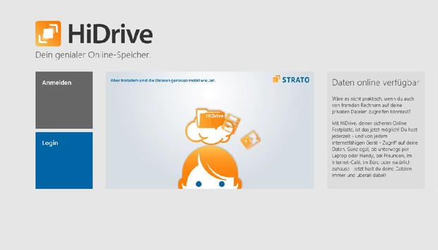 CeBIT PREVIEW: STRATO zeigt Windows 8 App für HiDrive / Windows 8 App zur CeBIT im Windows Store