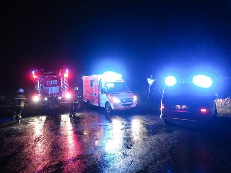 FW-MK: Verkehrsunfall zwischen Läger und Kesbern