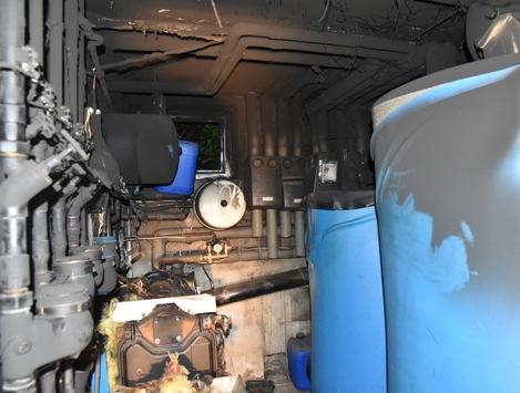 FW-OE: Feuer im Clubheim - Heizungsanlage gerät in Brand