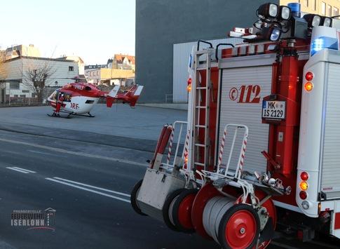 FW-MK: Erneuter Rettungshubschraubereinsatz in Iserlohn