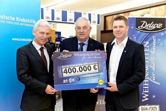 Aktion für die Gesundheit: Lidl spendet 400.000 Euro an die Deutsche Krebshilfe e. V.