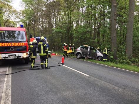 FW-MG: Schwerer Verkehrsunfall – 2 Personen schwer verletzt