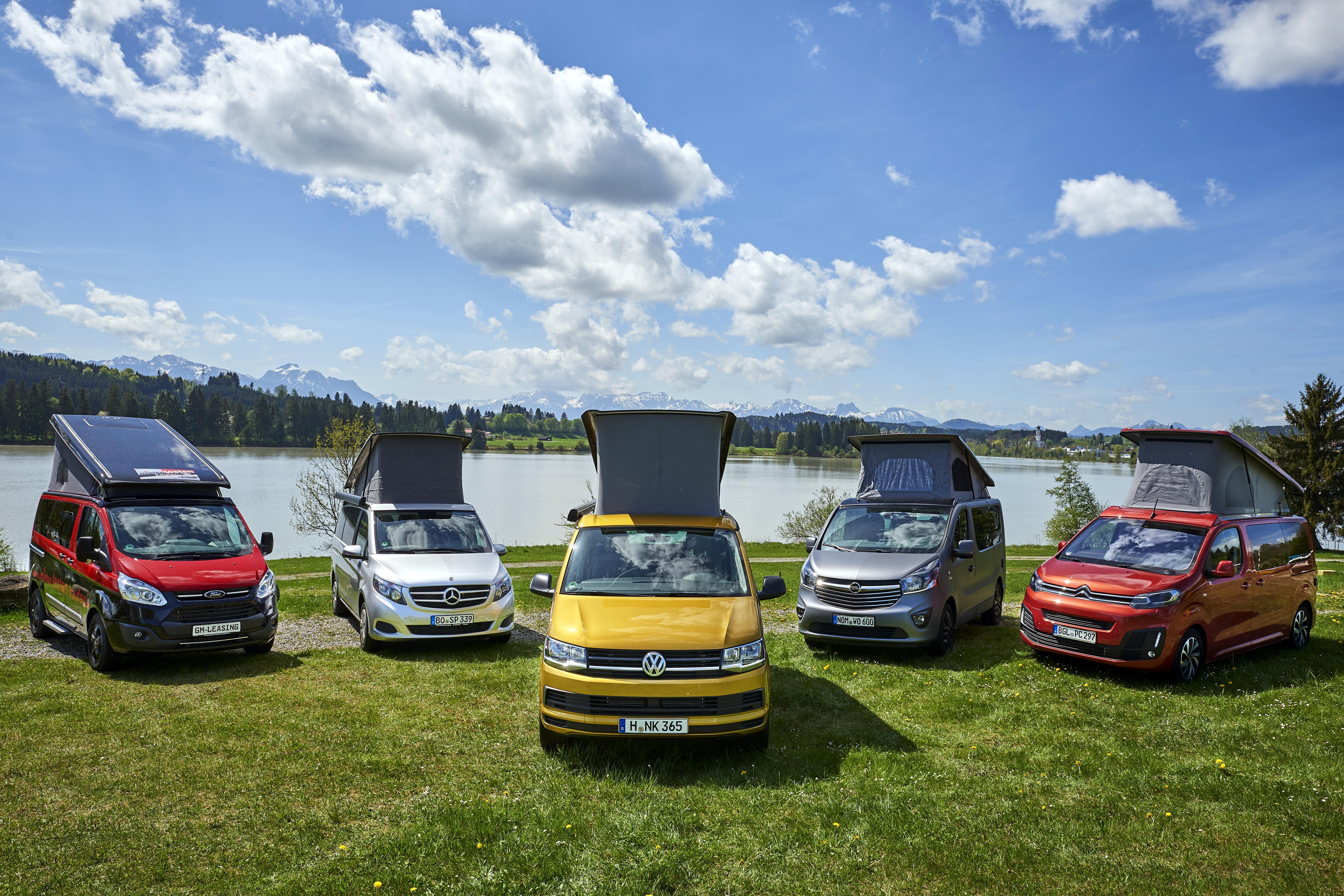 bd1df5088508 VW California und Mercedes Marco Polo gleichauf / Fünf Campingbusse im  Vergleichstest des ADAC