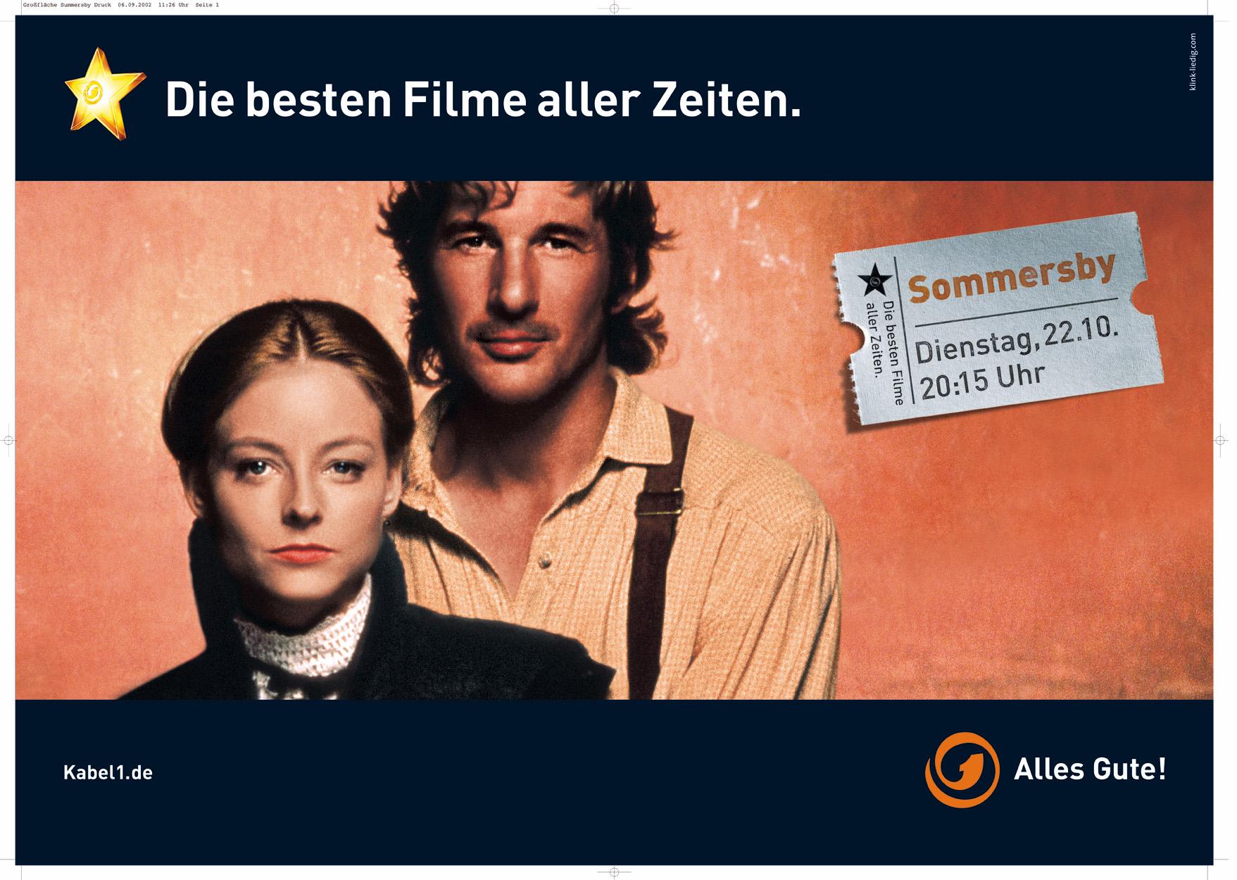 Bundesweite Herbstkampagne von Kabel 1 : Die besten Filme