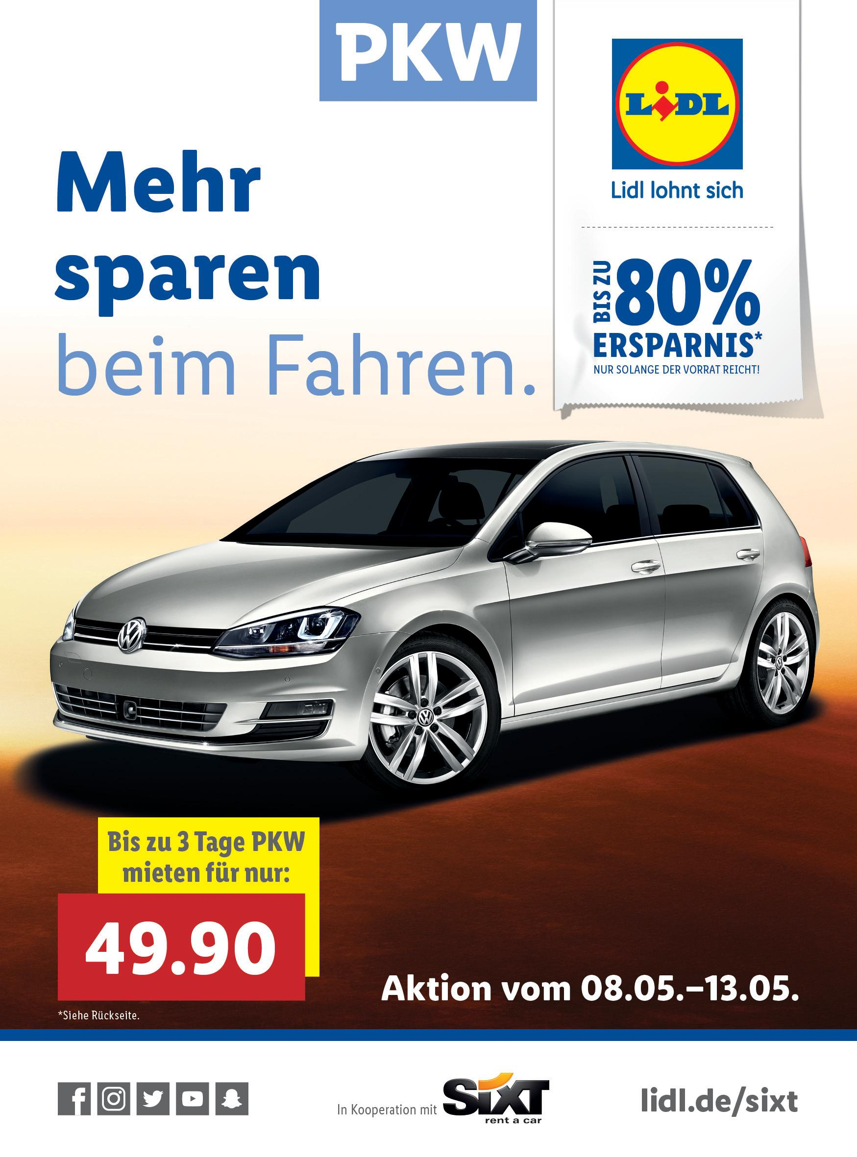 lidl und sixt machen mobil f r weniger als 50 euro. Black Bedroom Furniture Sets. Home Design Ideas