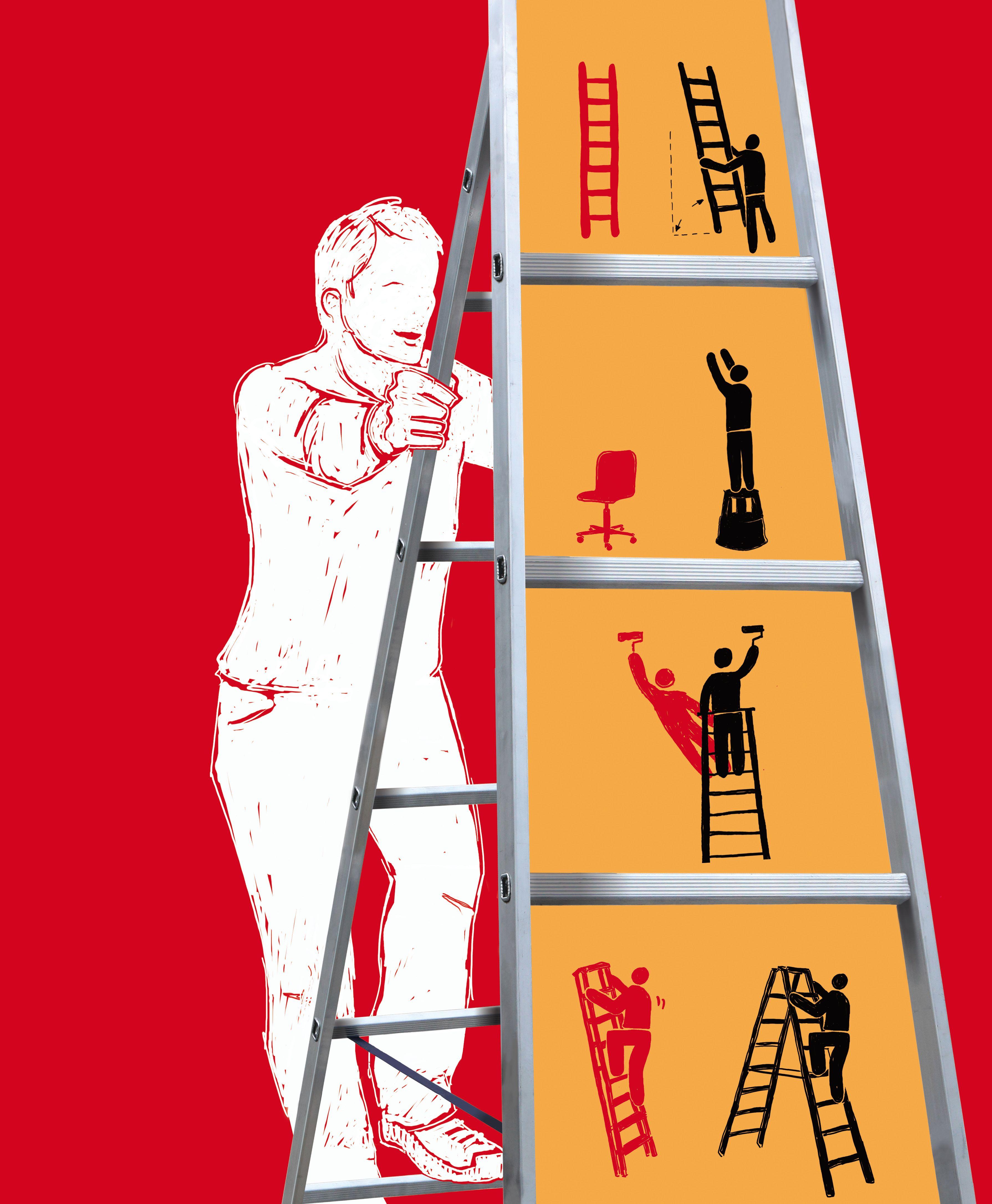 Unfälle mit Leitern: Nicht häufig, aber dafür oft schwer / Ursache ...