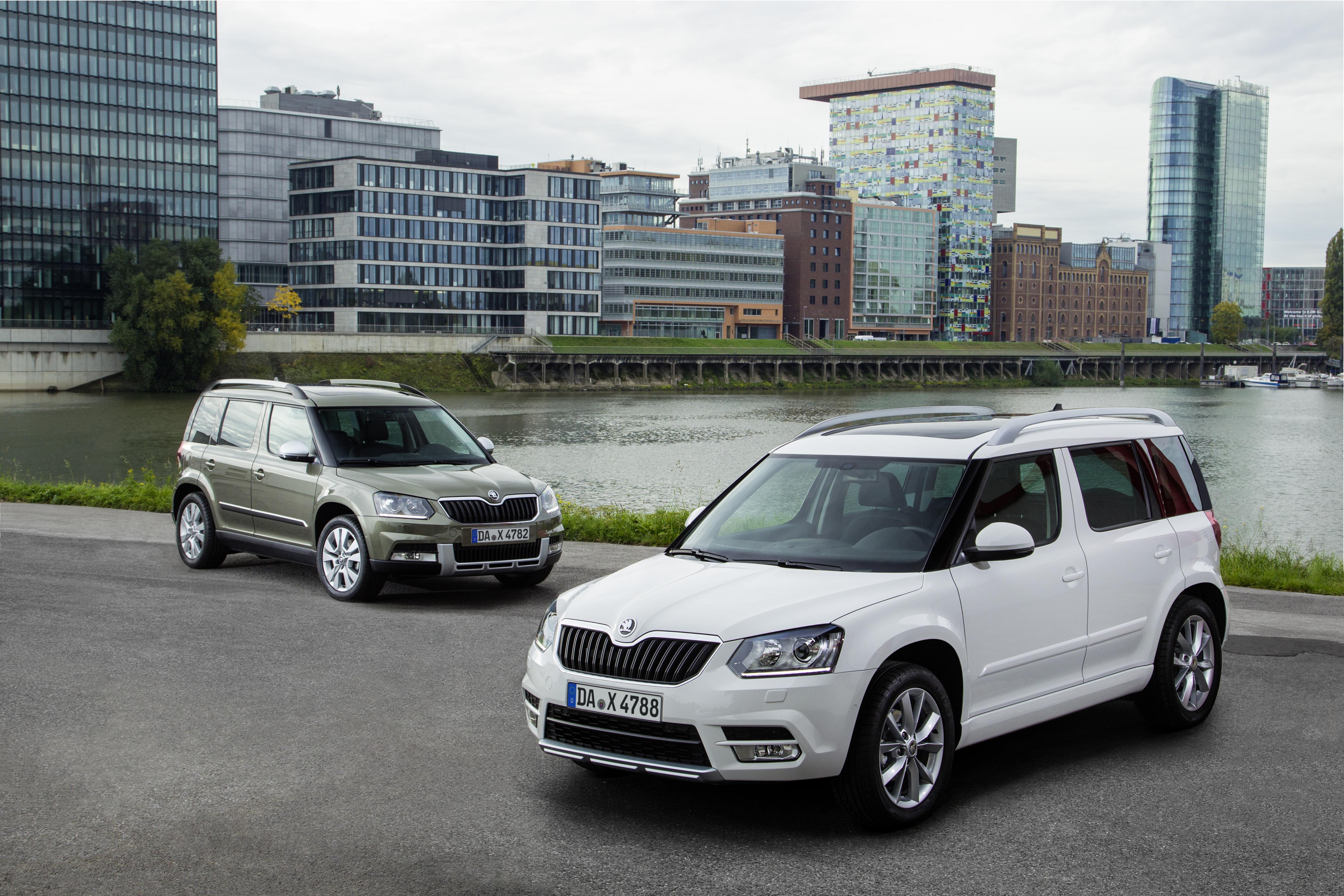SKODA Yeti mit neuer EU 6 Motorenpalette und moderner Konnektivität