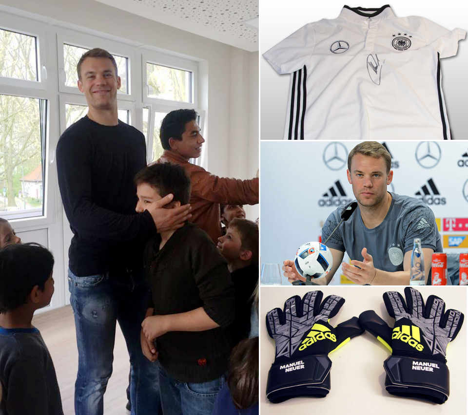 manuel neuer versteigert seine em ausr stung nationaltorh ter stellt getragene und. Black Bedroom Furniture Sets. Home Design Ideas