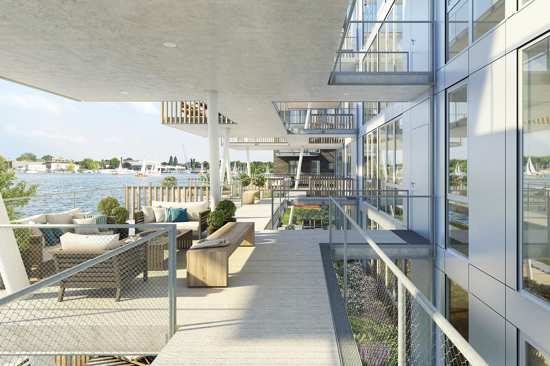▷ Neue Landmarke am Ufer der Dahme: BUWOG THE VIEW mit schwebenden ...