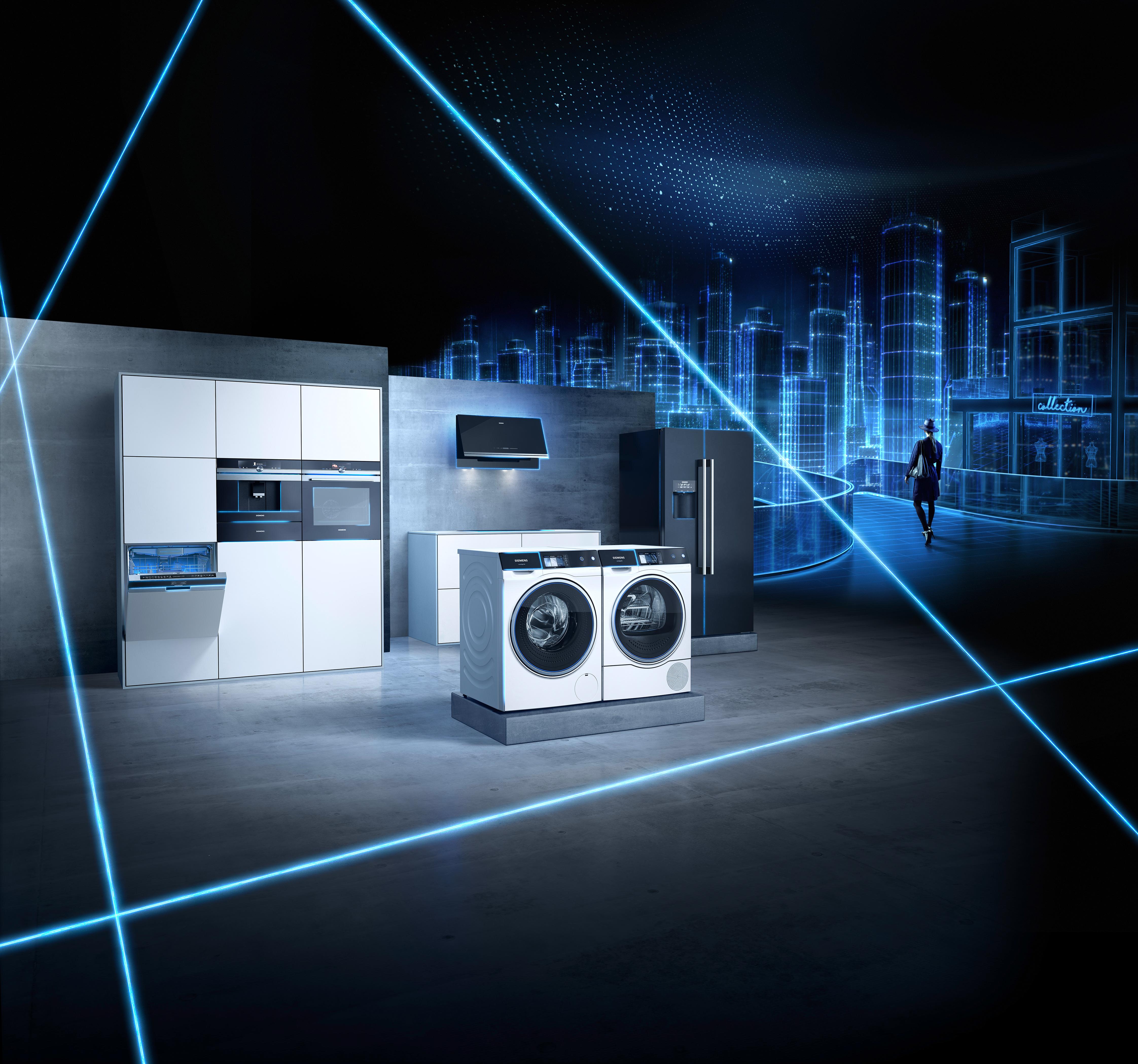 vernetzung im haushalt was kommt und was bleibt siemens hausger te zeigt auf der. Black Bedroom Furniture Sets. Home Design Ideas