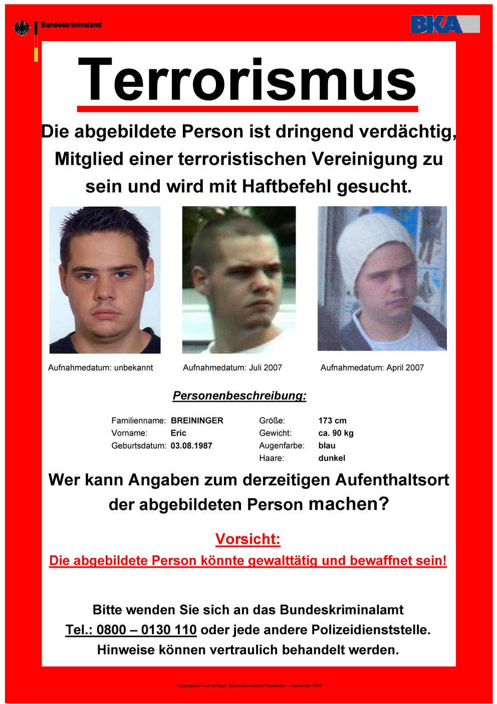 Wanted Auf Deutsch