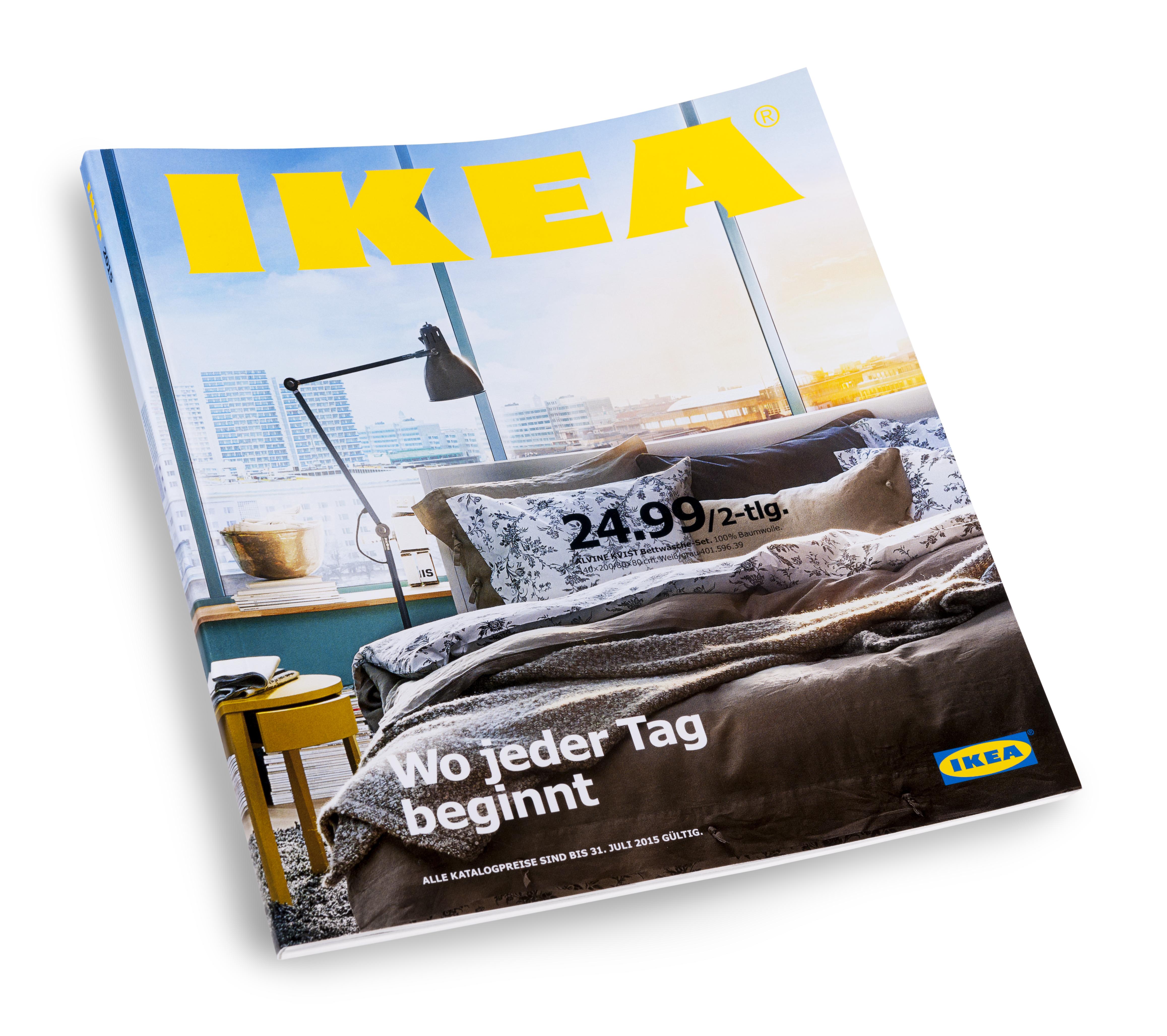 f r einen guten start in den tag ikea katalog 2015 r ckt schlaf und badezimmer in den fokus. Black Bedroom Furniture Sets. Home Design Ideas