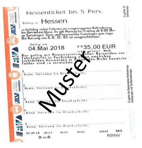 Muster Hessenticket; Quelle: Bundespolizei