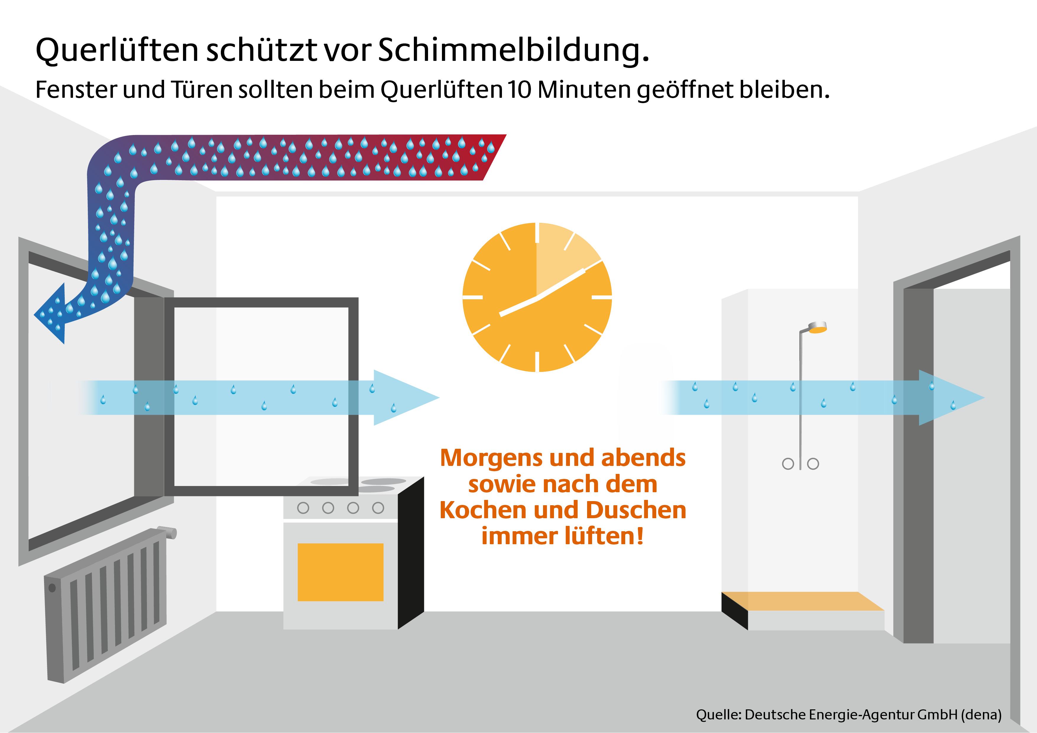 schimmelfrei durch den winter dena gibt tipps zum richtigen l ften in der kalten jahreszeit. Black Bedroom Furniture Sets. Home Design Ideas