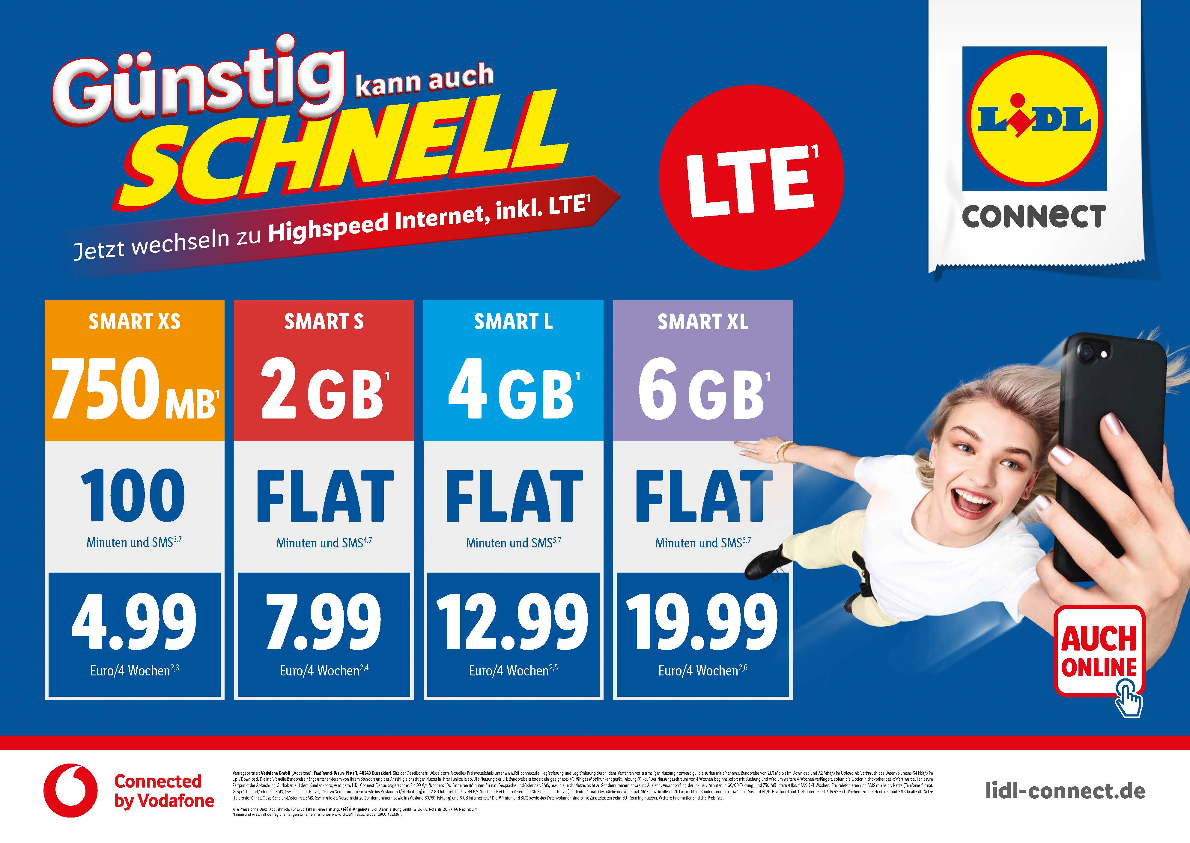Lte Bei Lidl Connect Connected By Vodafone Schnell