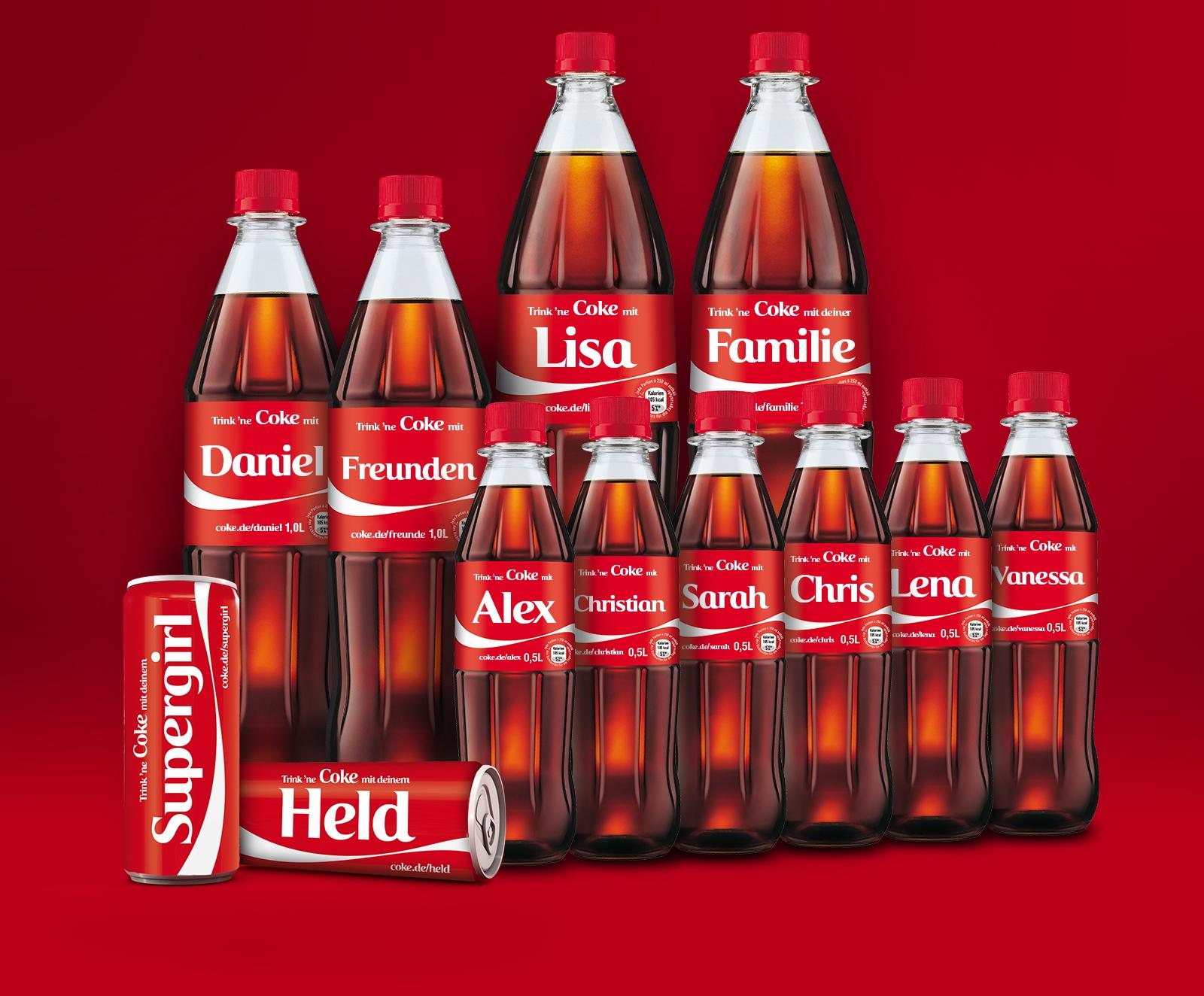 eine coke auf die freundschaft neue kampagne erm glicht personalisierte coca cola. Black Bedroom Furniture Sets. Home Design Ideas