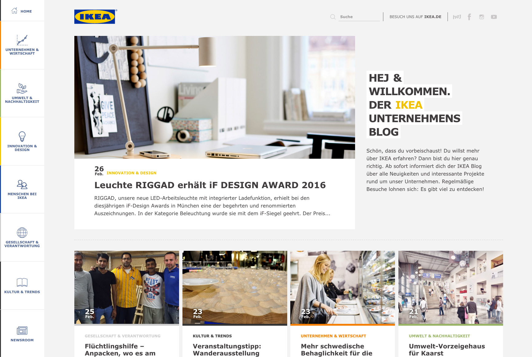 ikea deutschland startet unternehmensblog. Black Bedroom Furniture Sets. Home Design Ideas