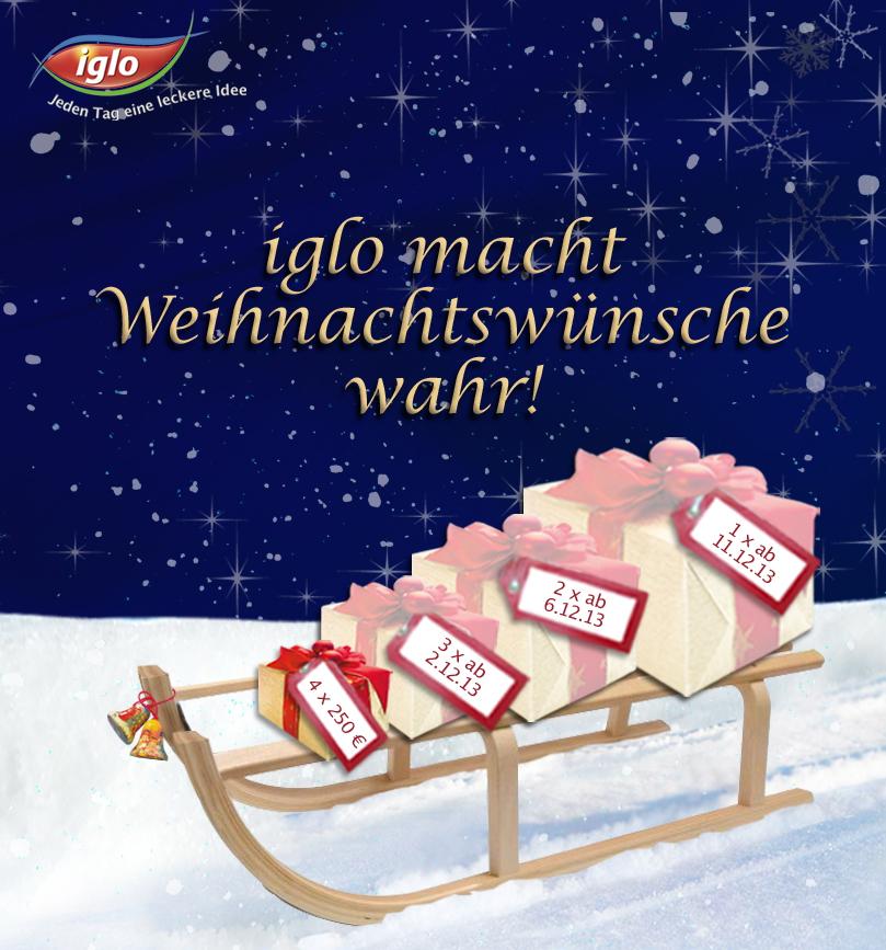 iglo weihnachtswunsch aktion das w nscht sich deutschland. Black Bedroom Furniture Sets. Home Design Ideas