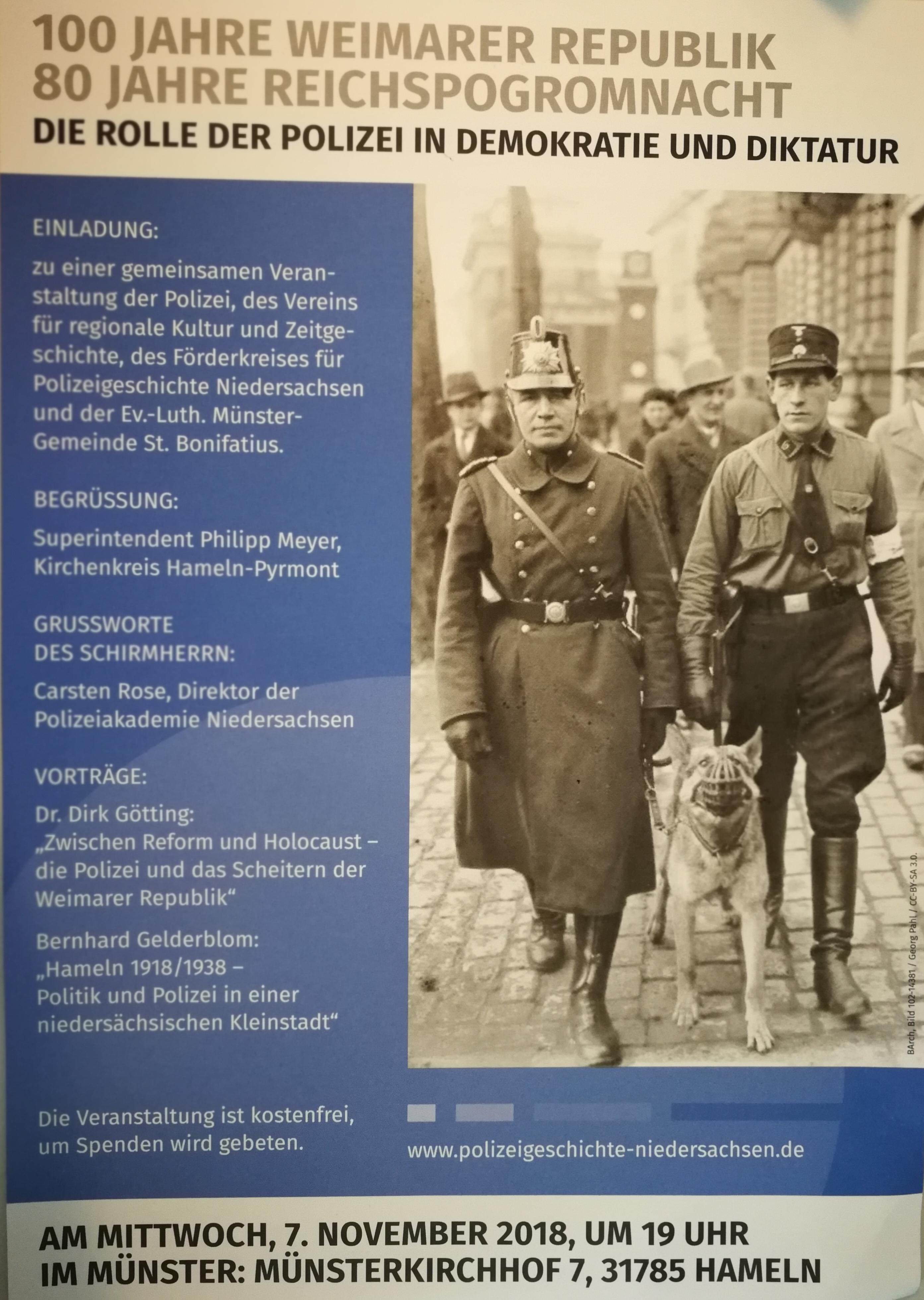 Pol Hm 100 Jahre Weimarer Republik 80 Jahre