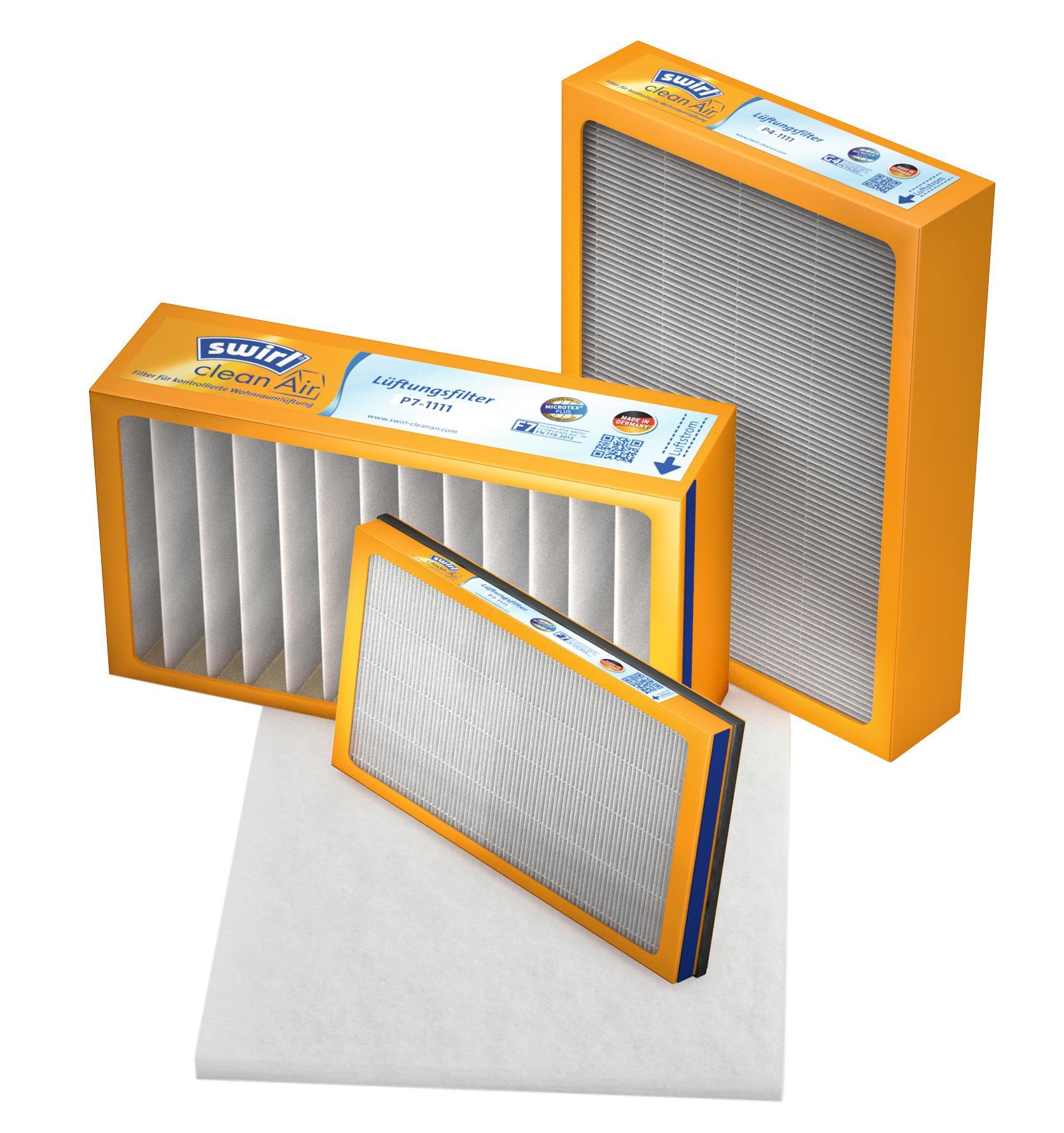 swirl cleanair filter f r kontrollierte wohnrauml ftung einfach sauber und presseportal. Black Bedroom Furniture Sets. Home Design Ideas