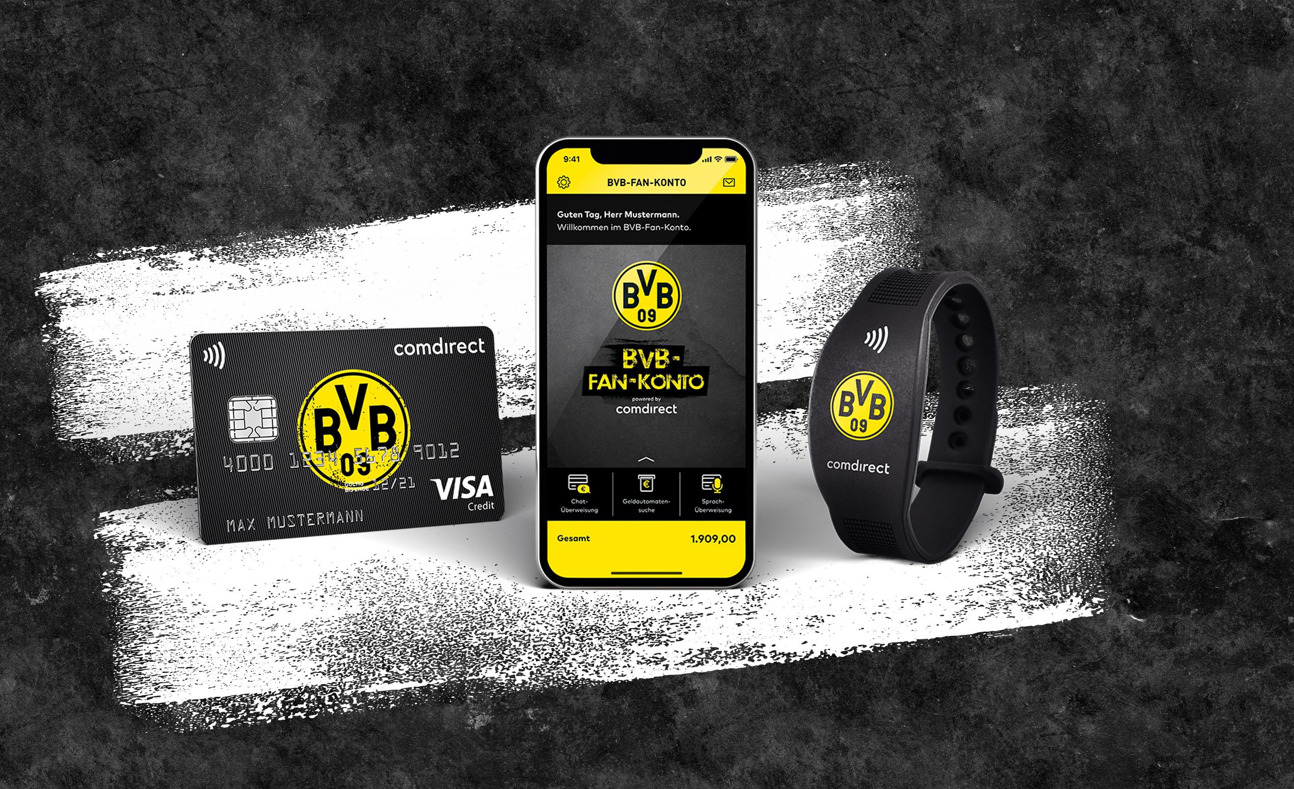 Visa Karte Comdirect.Comdirect Und Bvb Banking Partner Im Sinne Der Fans Presseportal