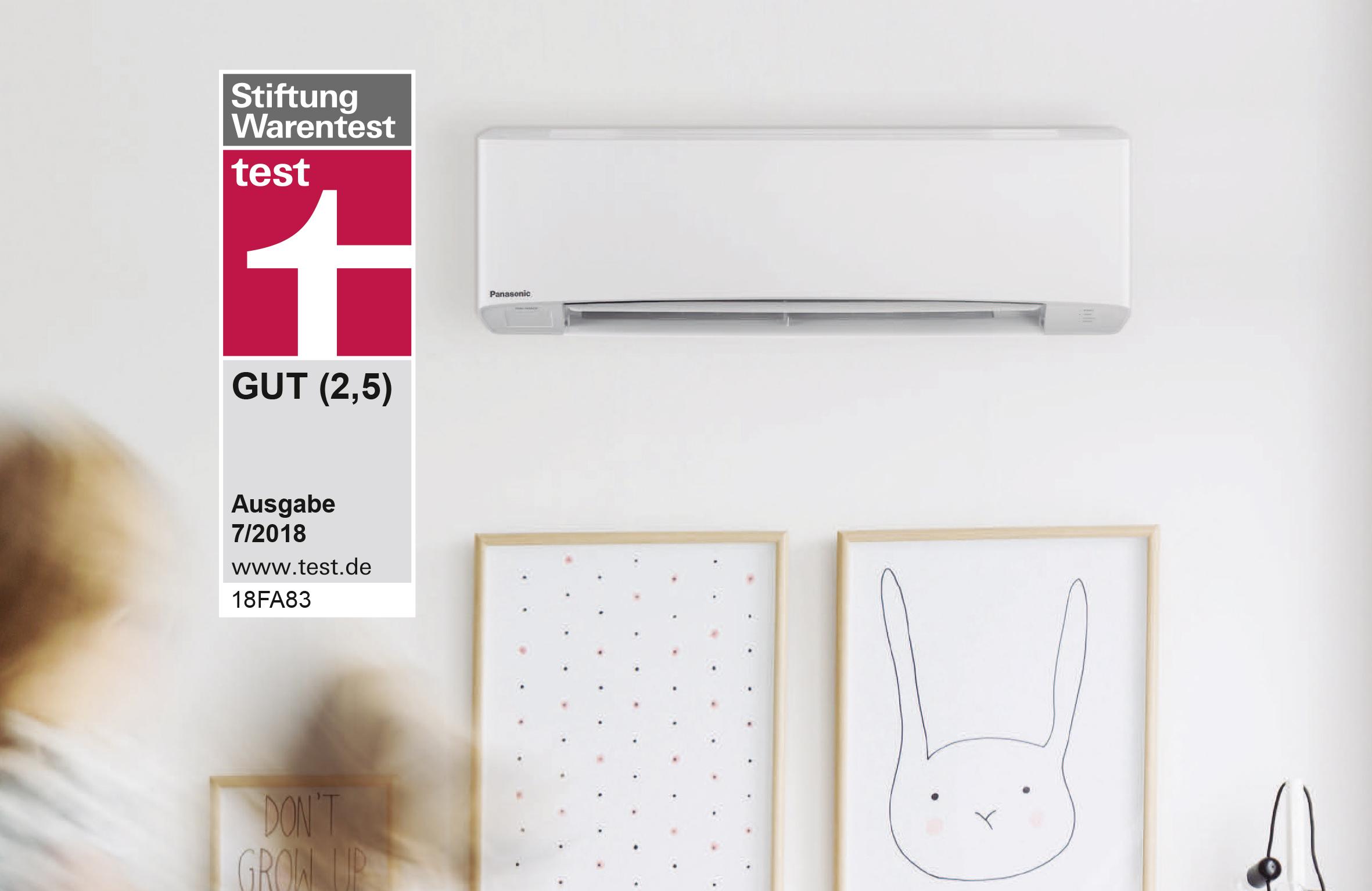 panasonic raumklimager t ist testsieger bei der stiftung warentest das einzige split. Black Bedroom Furniture Sets. Home Design Ideas