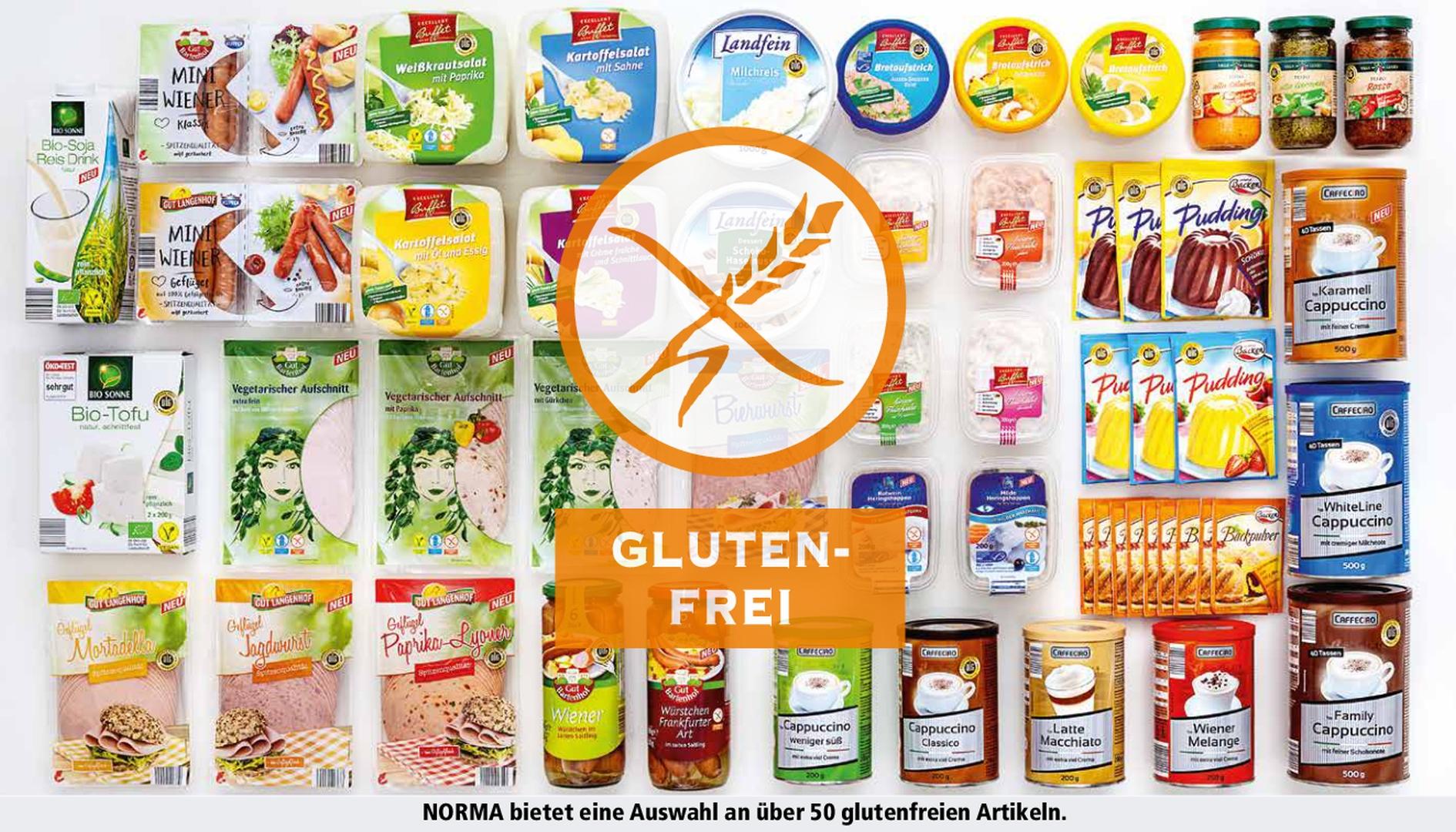 norma schon ber 50 produkte garantiert glutenfrei glutenfrei label bei norma eindeutige. Black Bedroom Furniture Sets. Home Design Ideas