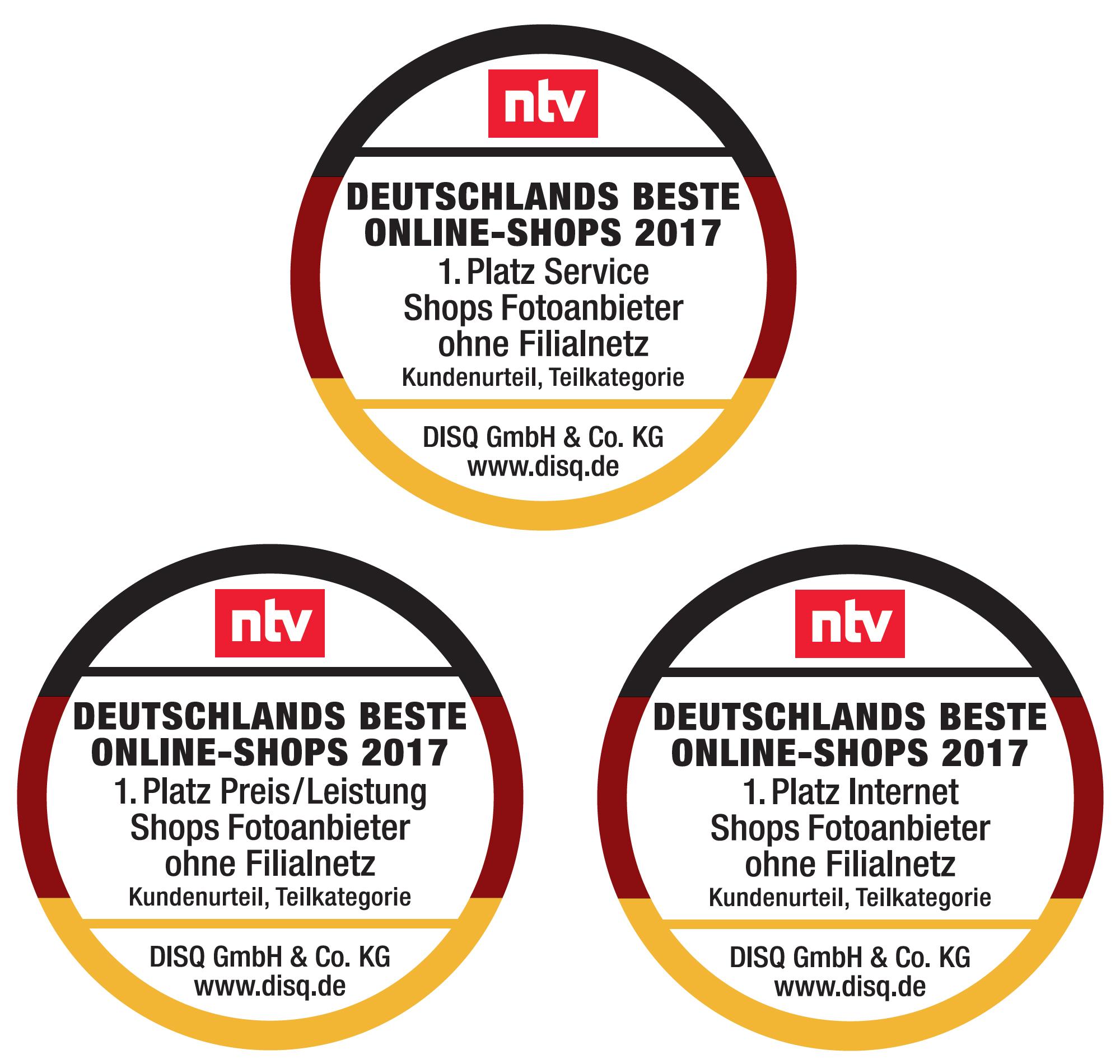 auszeichnung deutschlands beste online shops 2017 pixum gleich dreimal auf dem ersten platz. Black Bedroom Furniture Sets. Home Design Ideas