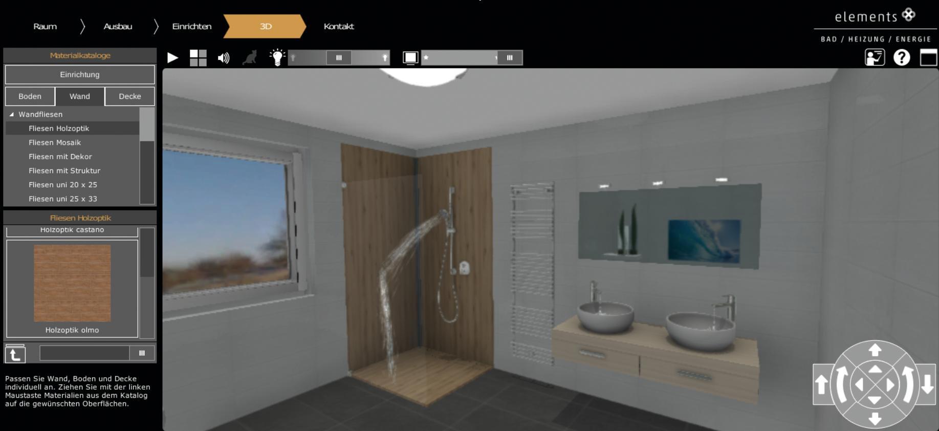 das eigene traumbad gestalten in 3d ganz einfach mit dem neuen virtuellen presseportal. Black Bedroom Furniture Sets. Home Design Ideas