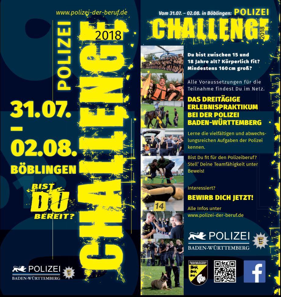 ▷ POL-AA: Polizei-Challenge 2018 - Eine ganz besondere Herausforderung für  Jugendliche | Presseportal