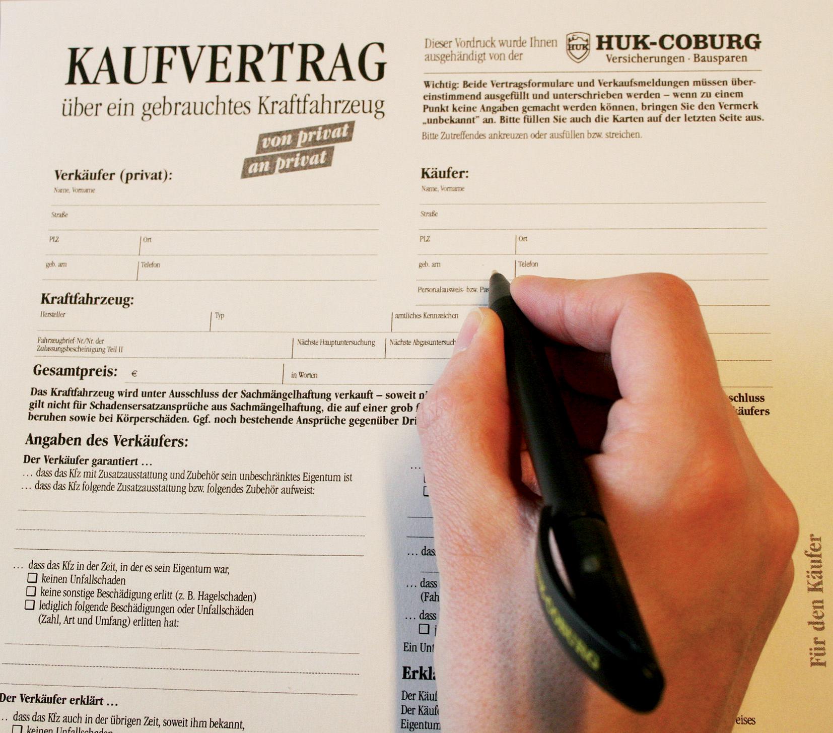 gut zu wissen tipps fr den alltag mit kaufvertrag stolpersteinen ausweichen presseportal - Muster Kaufvertrag Kfz