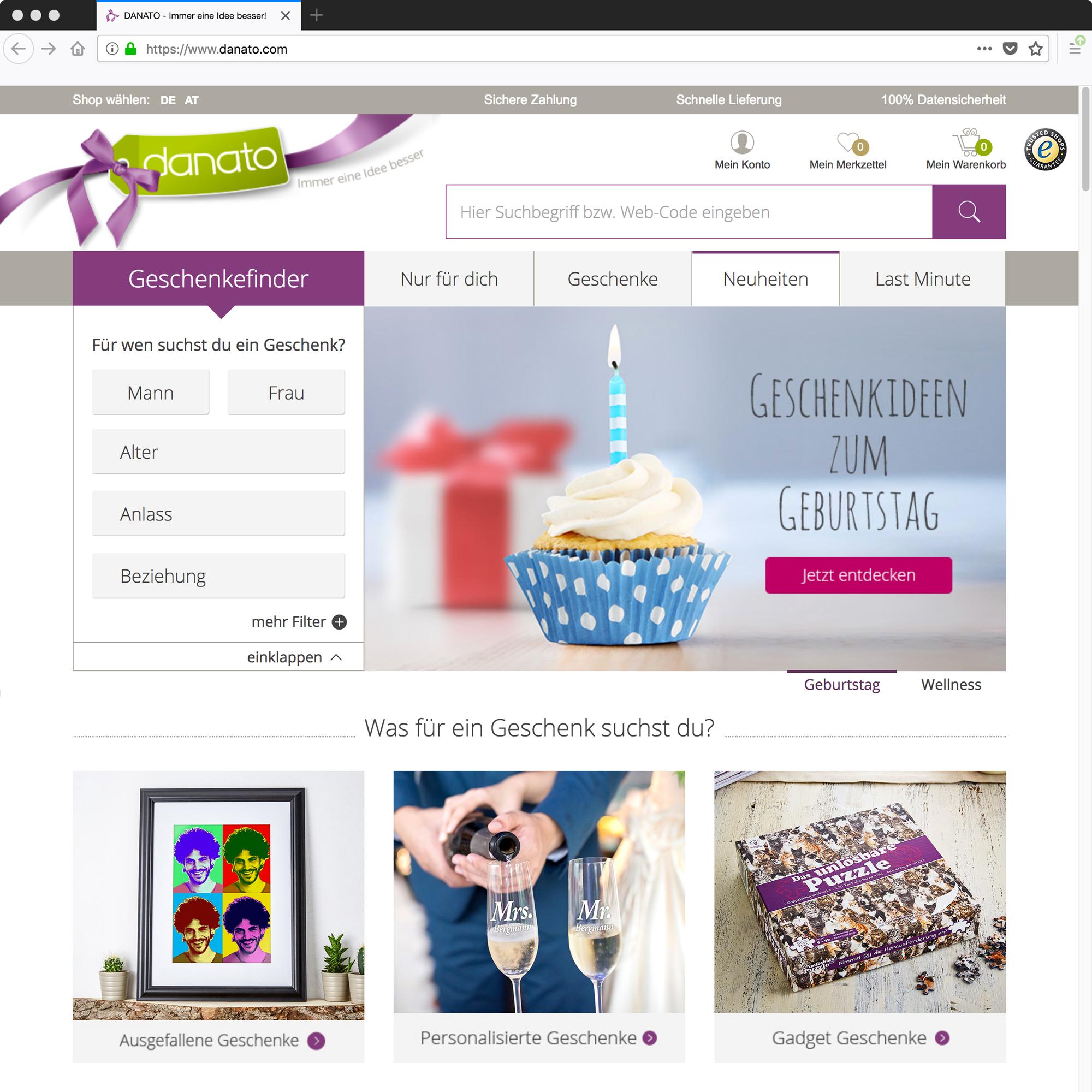 db2f1126cc2995 ▷ LPZ GmbH übernimmt Online-Shop Danato von Gruner + Jahr ...