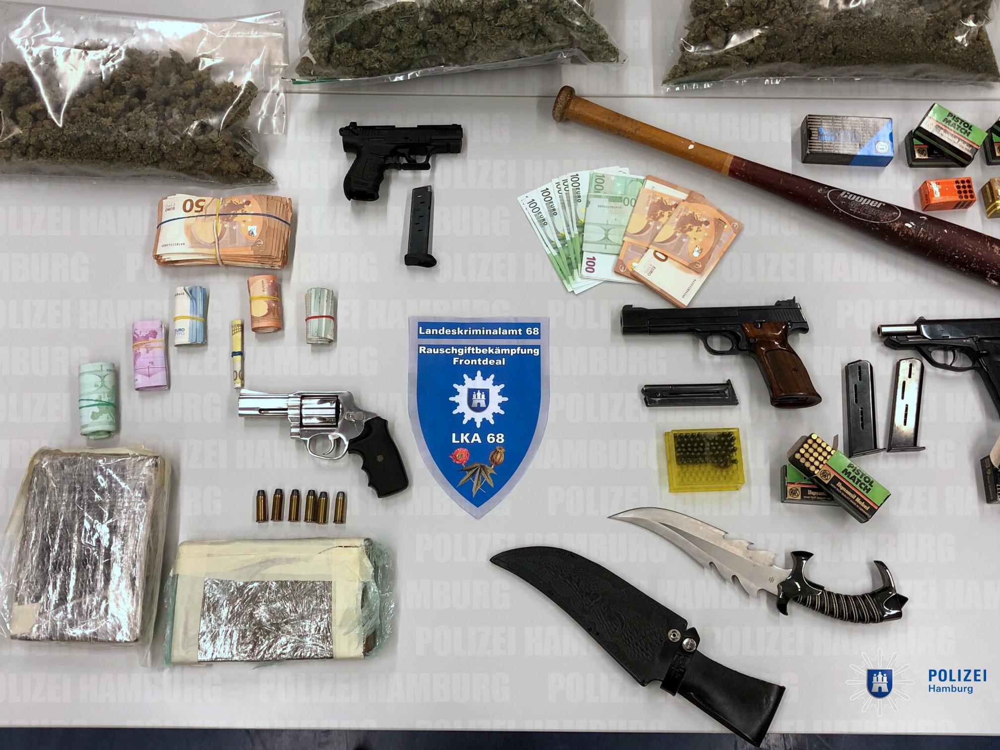 08fa47f85563e7 Fünf vorläufige Festnahmen wegen des Verdachts des Drogenhandels in Hamburg-Marienthal  und Tonndorf
