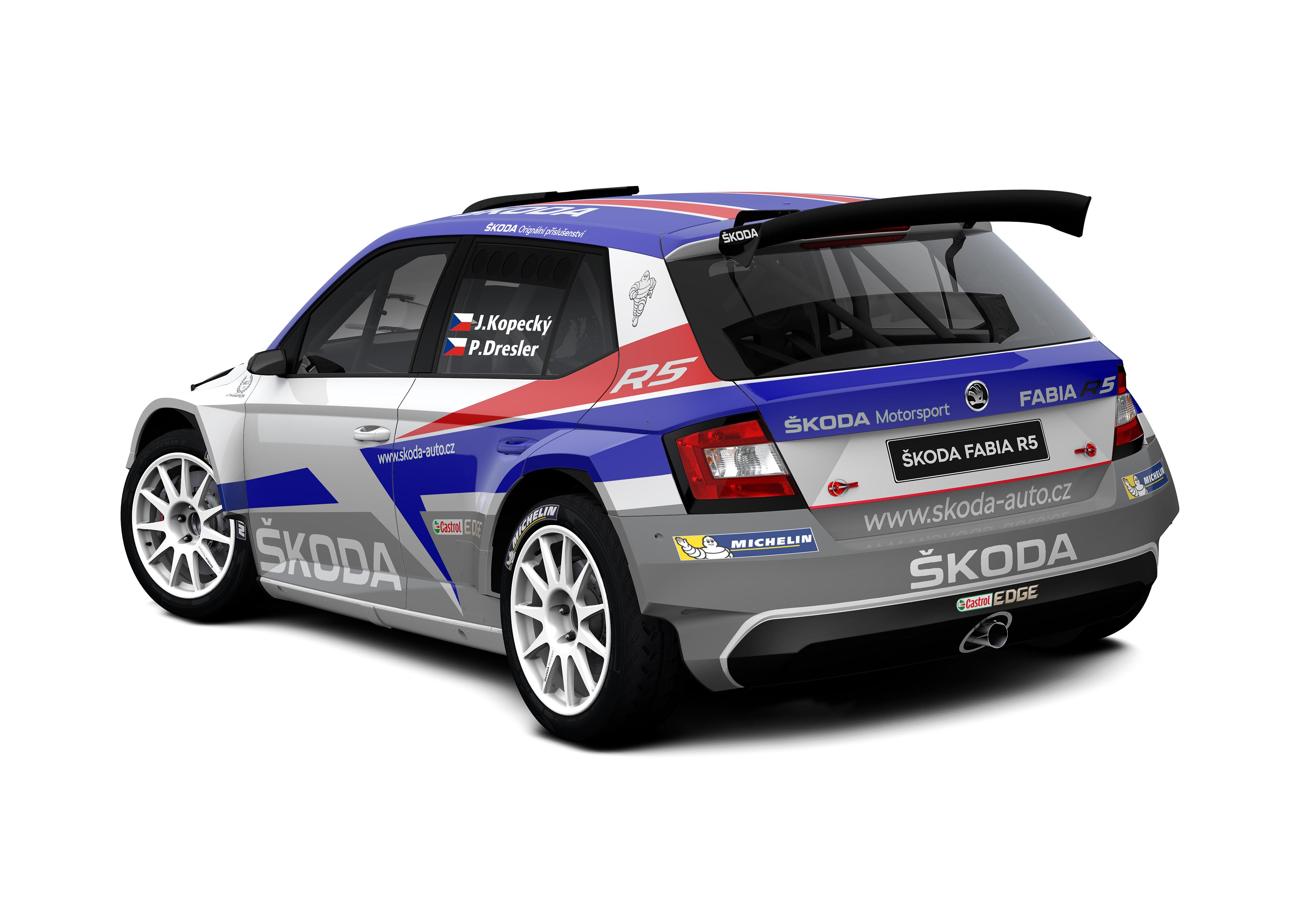 skoda motorsport mit drei teams bei der rallye monte carlo. Black Bedroom Furniture Sets. Home Design Ideas