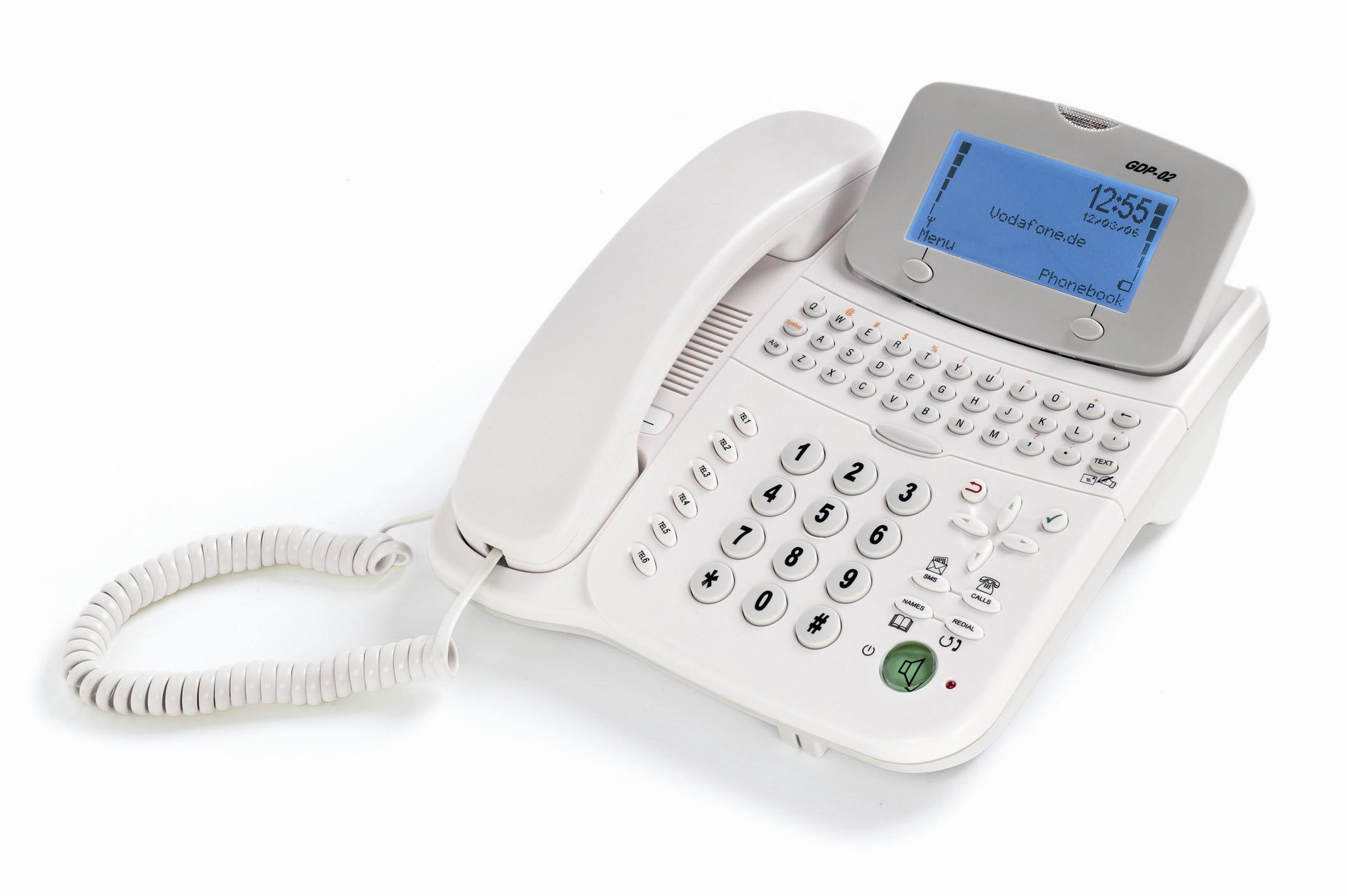 Die clevere Alternative zum Festnetz Multifunktionales Tischtelefon von Vodafone fürs Business und zu Hause als ideales Telefon für den günstigen