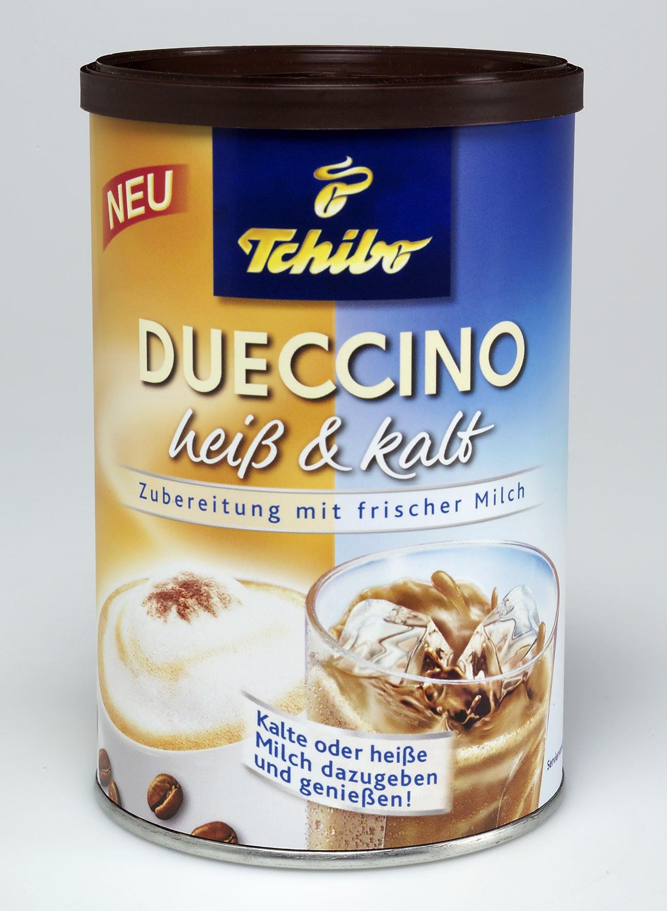 neu tchibo dueccino hei kalt ein doppelter cappuccino genuss presseportal. Black Bedroom Furniture Sets. Home Design Ideas