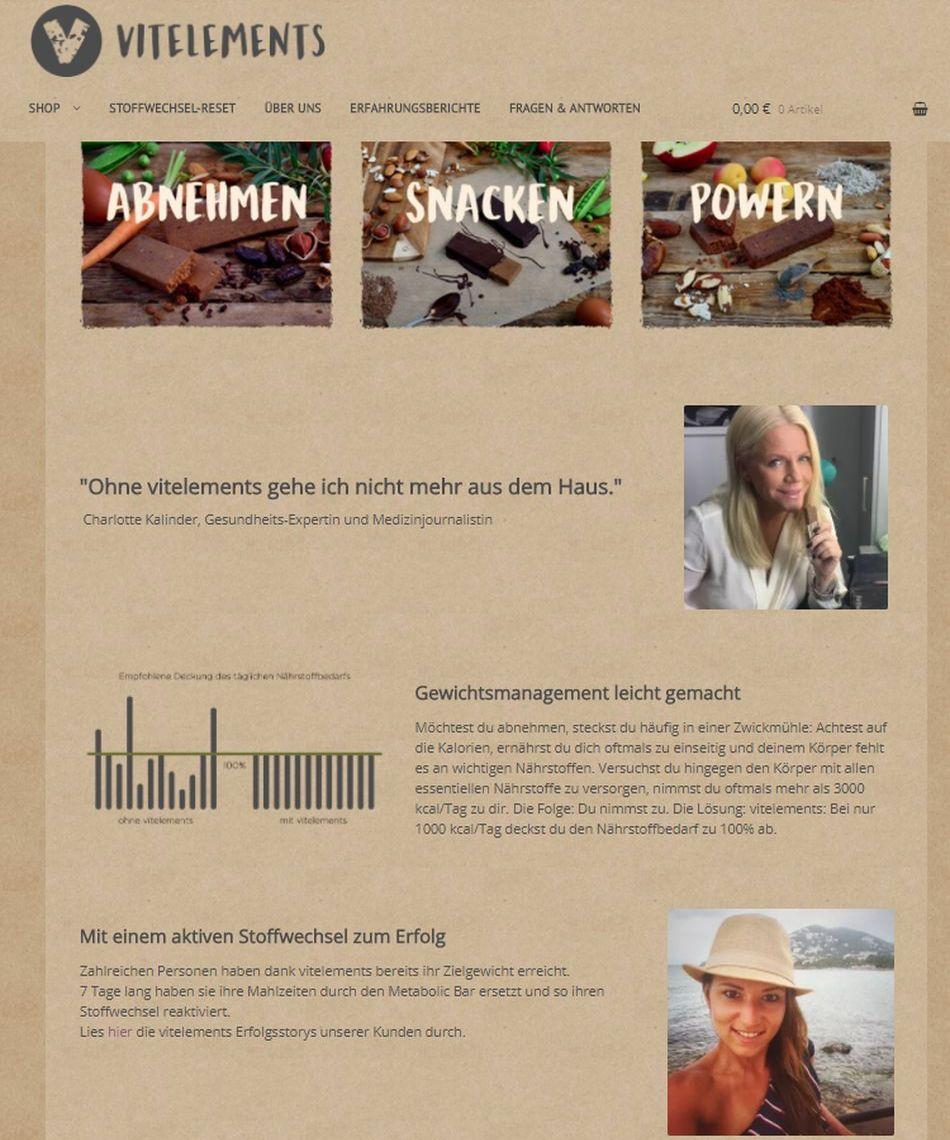 ▷ Mit vitelements Metabolic Bars zum Zielgewicht | Presseportal