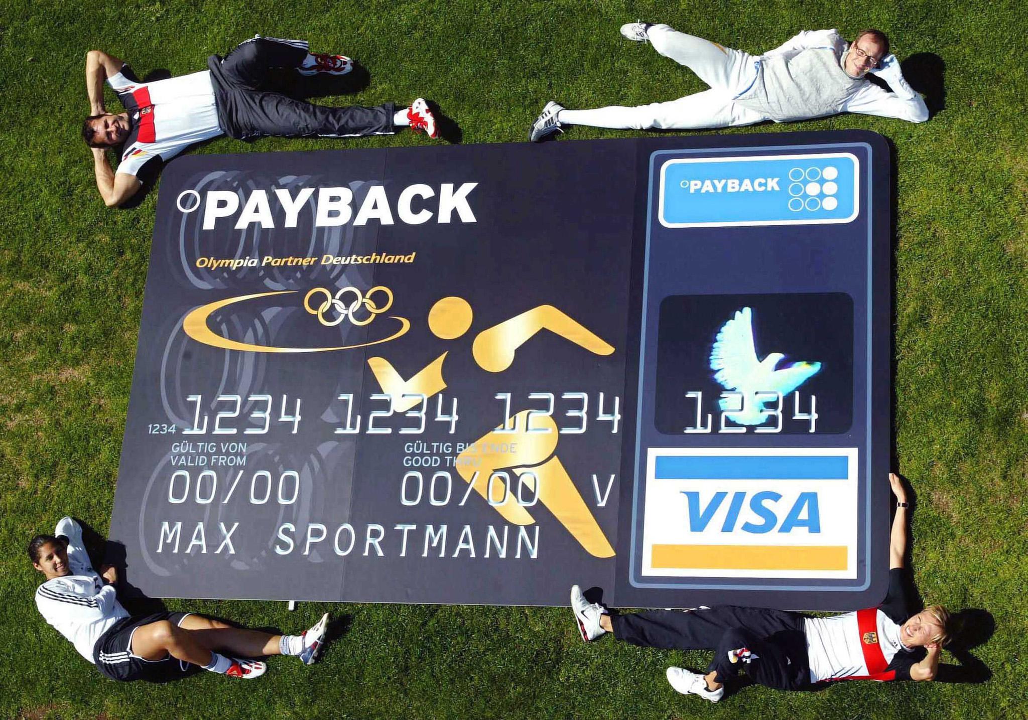 Payback Visa Karte.Deutsche Olympioniken Erhalten Eigene Olympia Kreditkarte