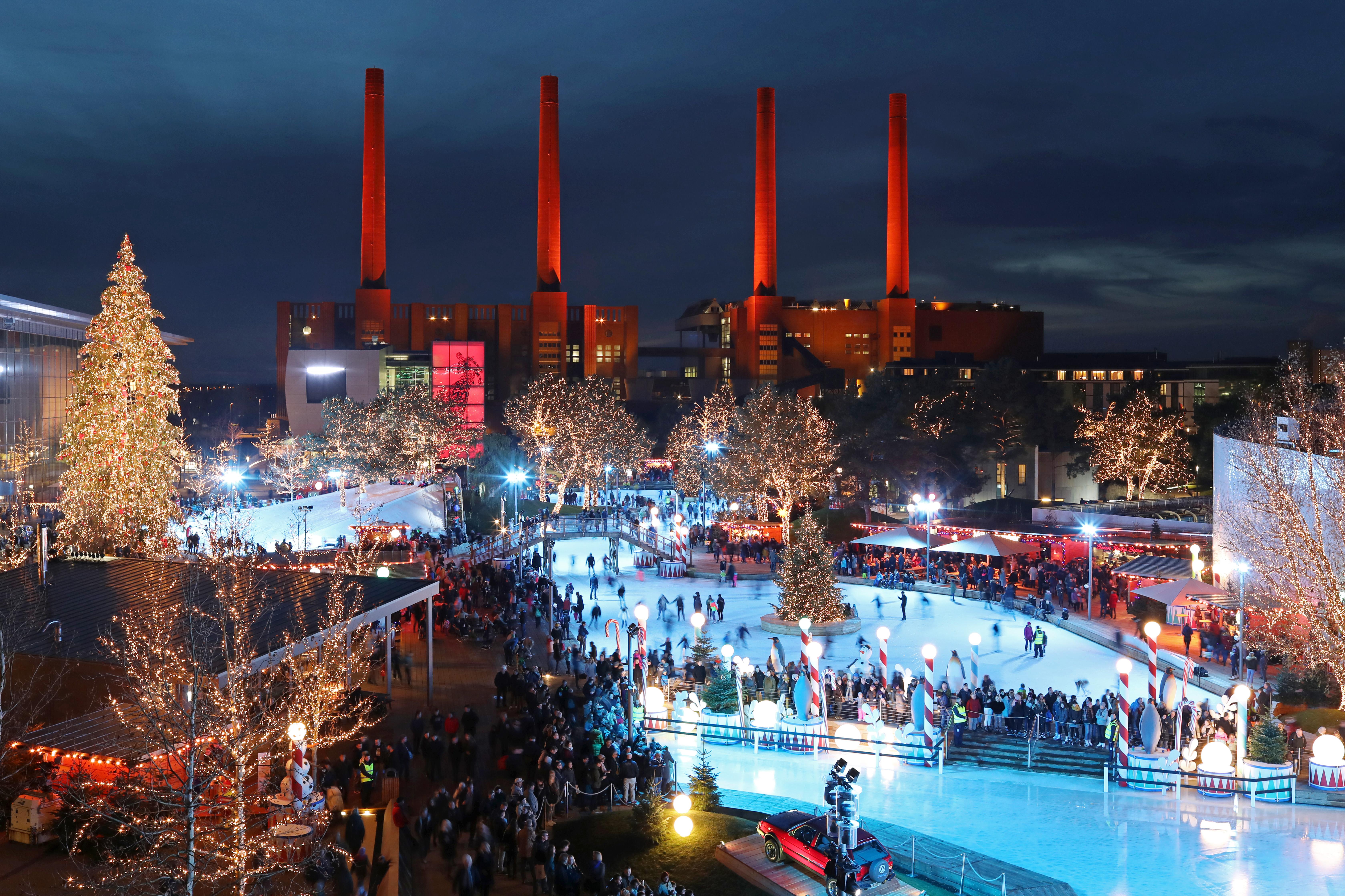 Autostadt Wolfsburg Weihnachtsmarkt.455 000 Gäste Besuchten Traumhafte Winterwelt Der Autostadt In