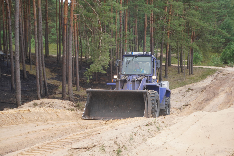 Lübtheen: auch das THW ist beim Waldbrand im Großeinsatz