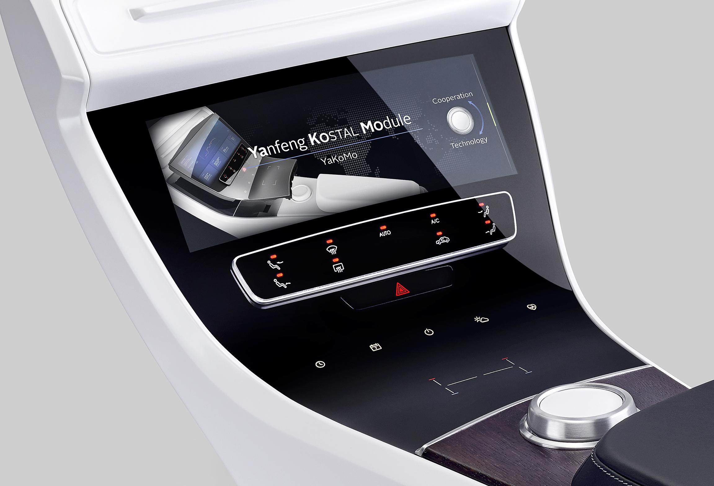 yanfeng automotive interiors und kostal zeigen intelligente oberfl chen im 3d glas design. Black Bedroom Furniture Sets. Home Design Ideas