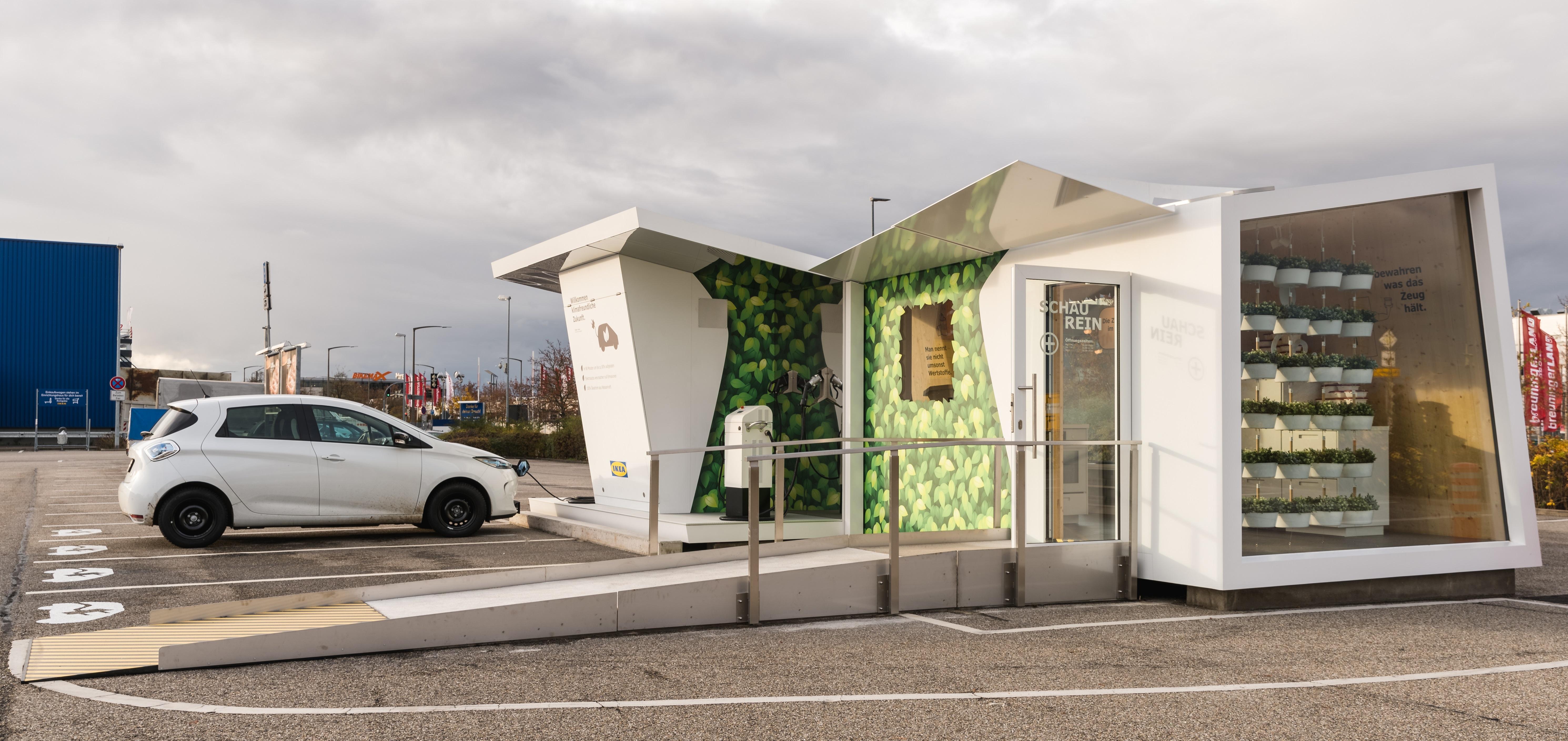 E-Tankstelle mit cleveren Ideen für ein nachhaltiges Zuhause / IKEA ...