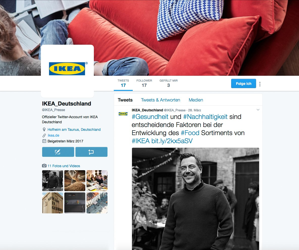 ikea deutschland startet twitter account pressemitteilung ikea deutschland gmbh co kg. Black Bedroom Furniture Sets. Home Design Ideas