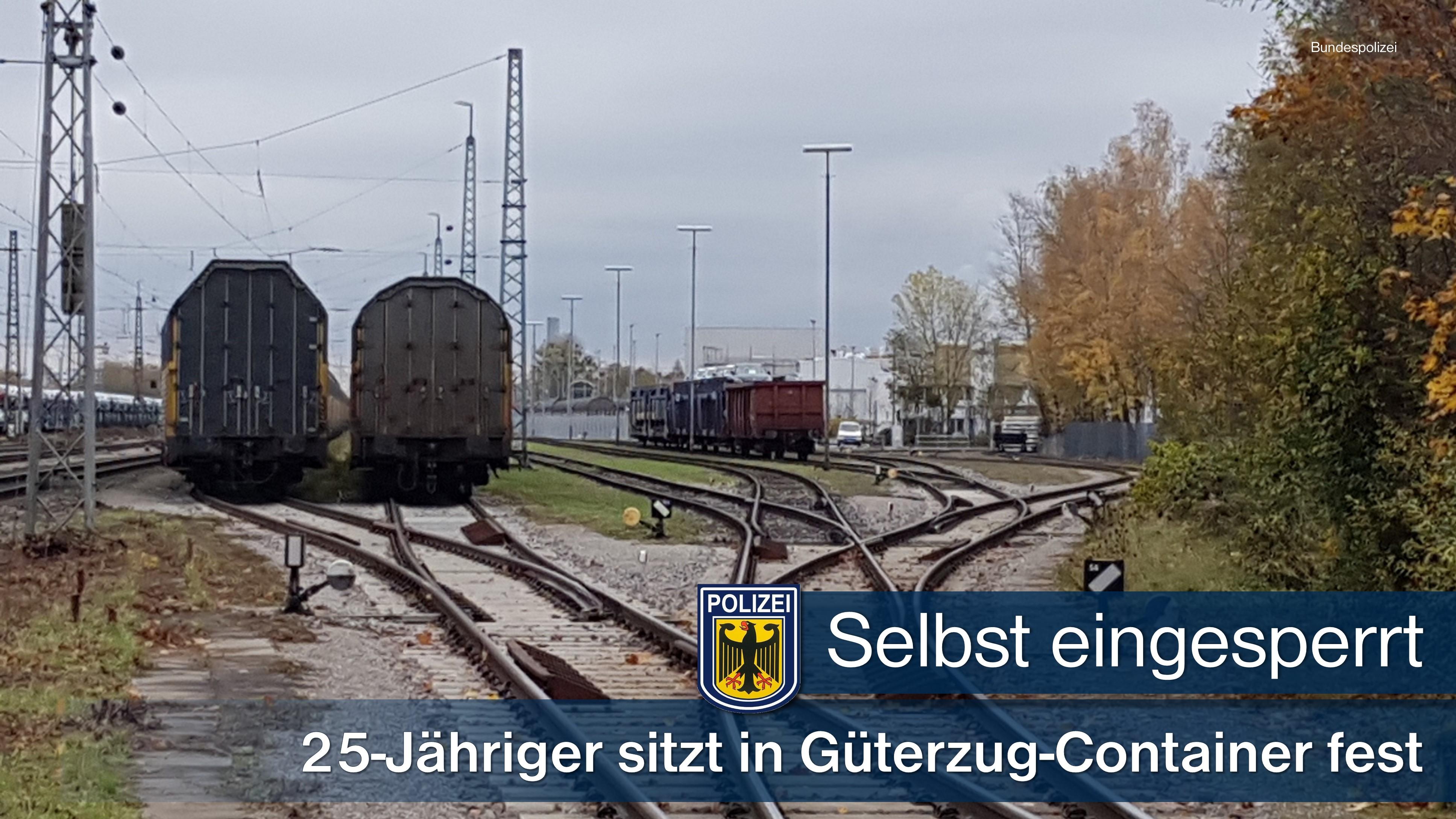 München: Betrunkener sitzt in Zugcontainer fest - Polizei befreit ihn
